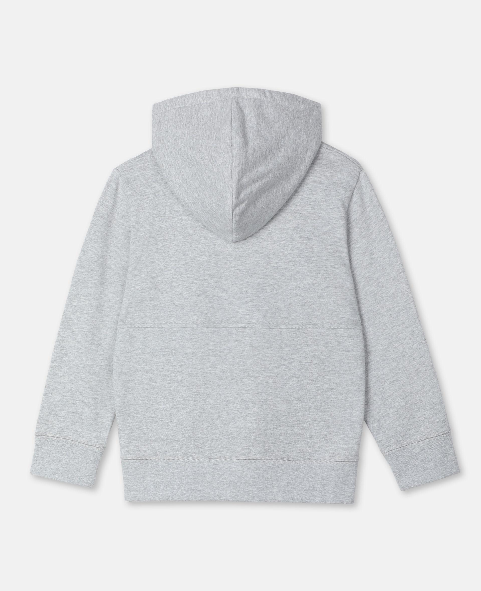 Sweat-shirt à capuche sportif oversize avec écusson logo -Gris-large image number 3