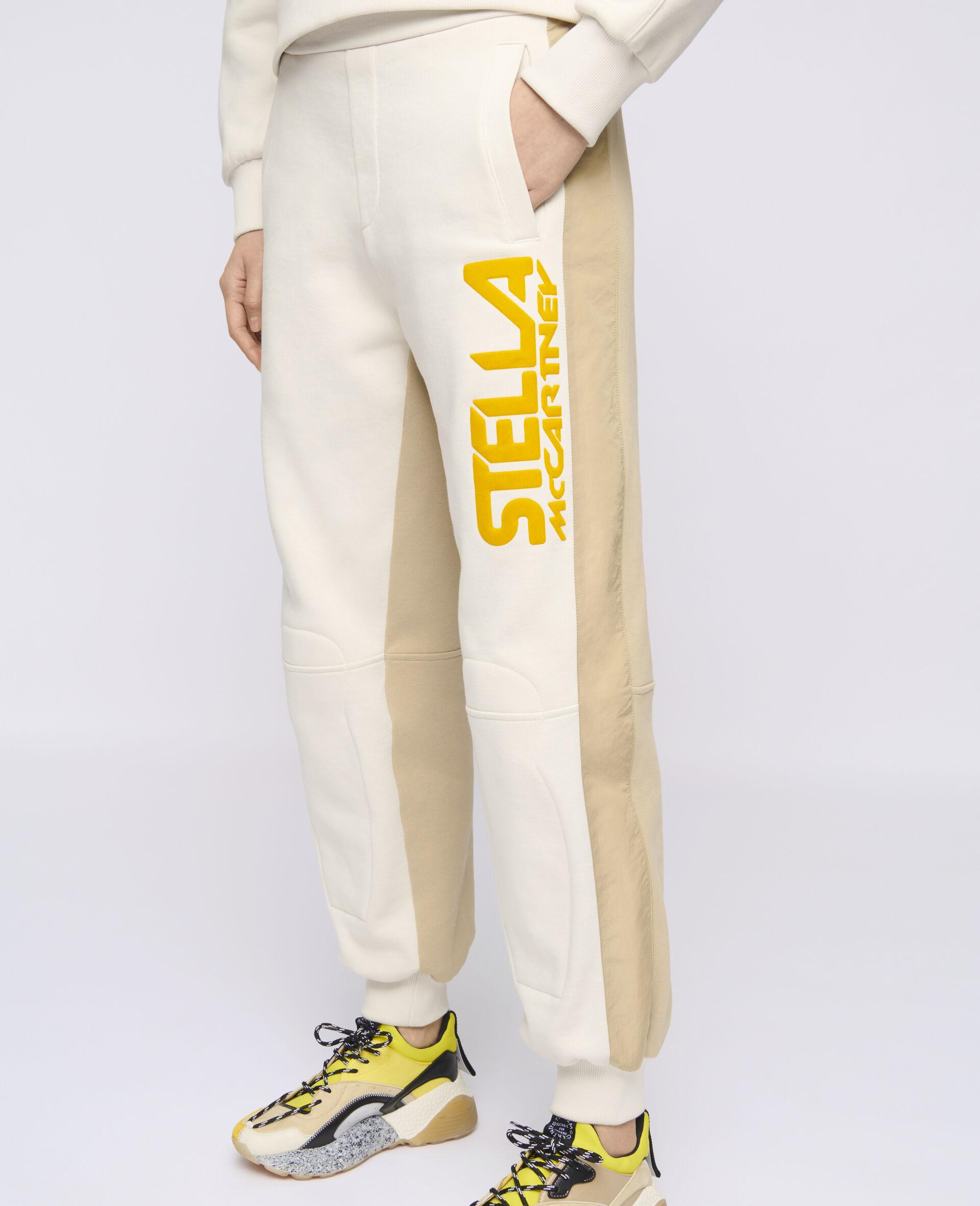 Pantalon à logo Stella McCartney -Blanc-large image number 3