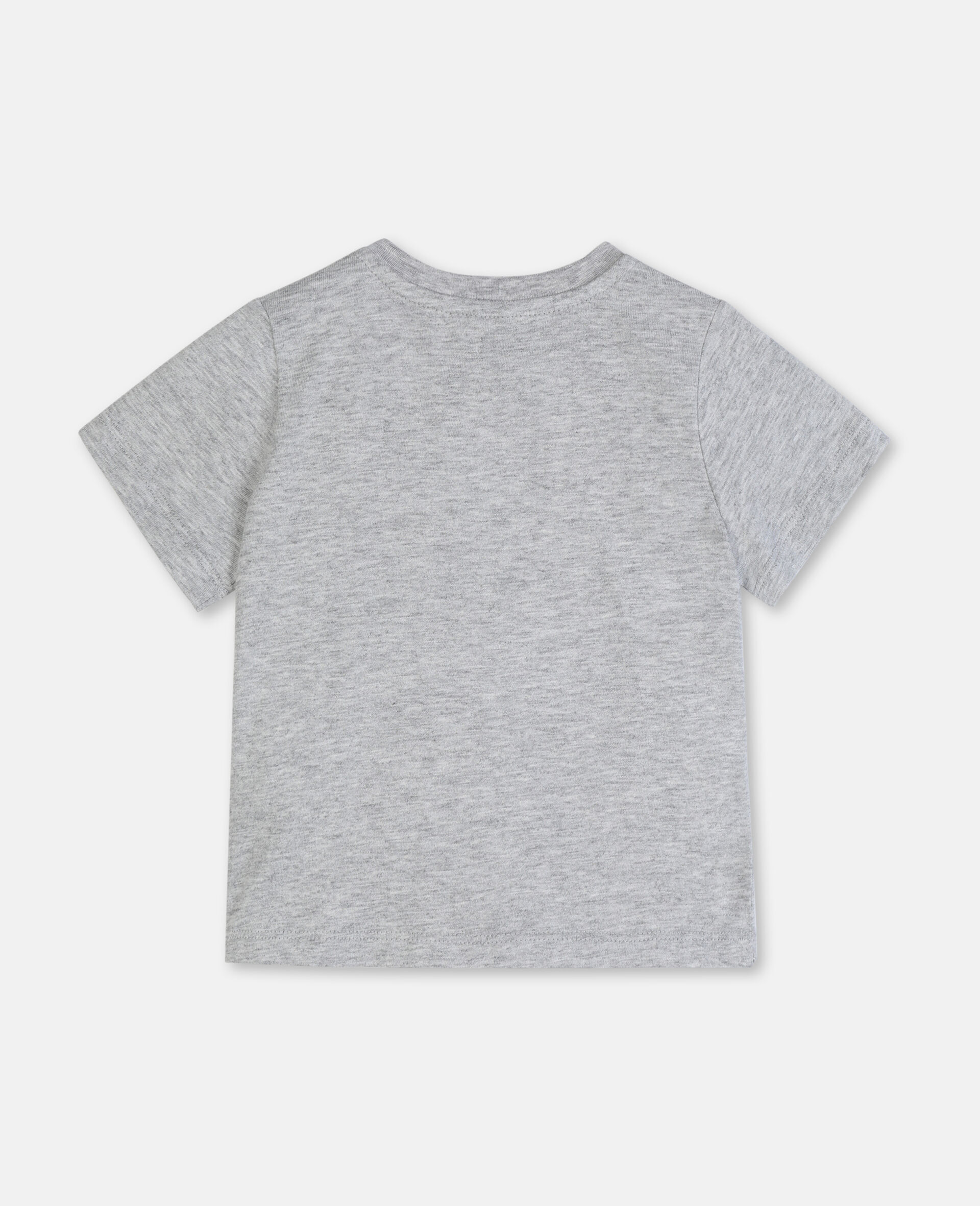 Paws Up Cotton T-shirt -Grey-large image number 3