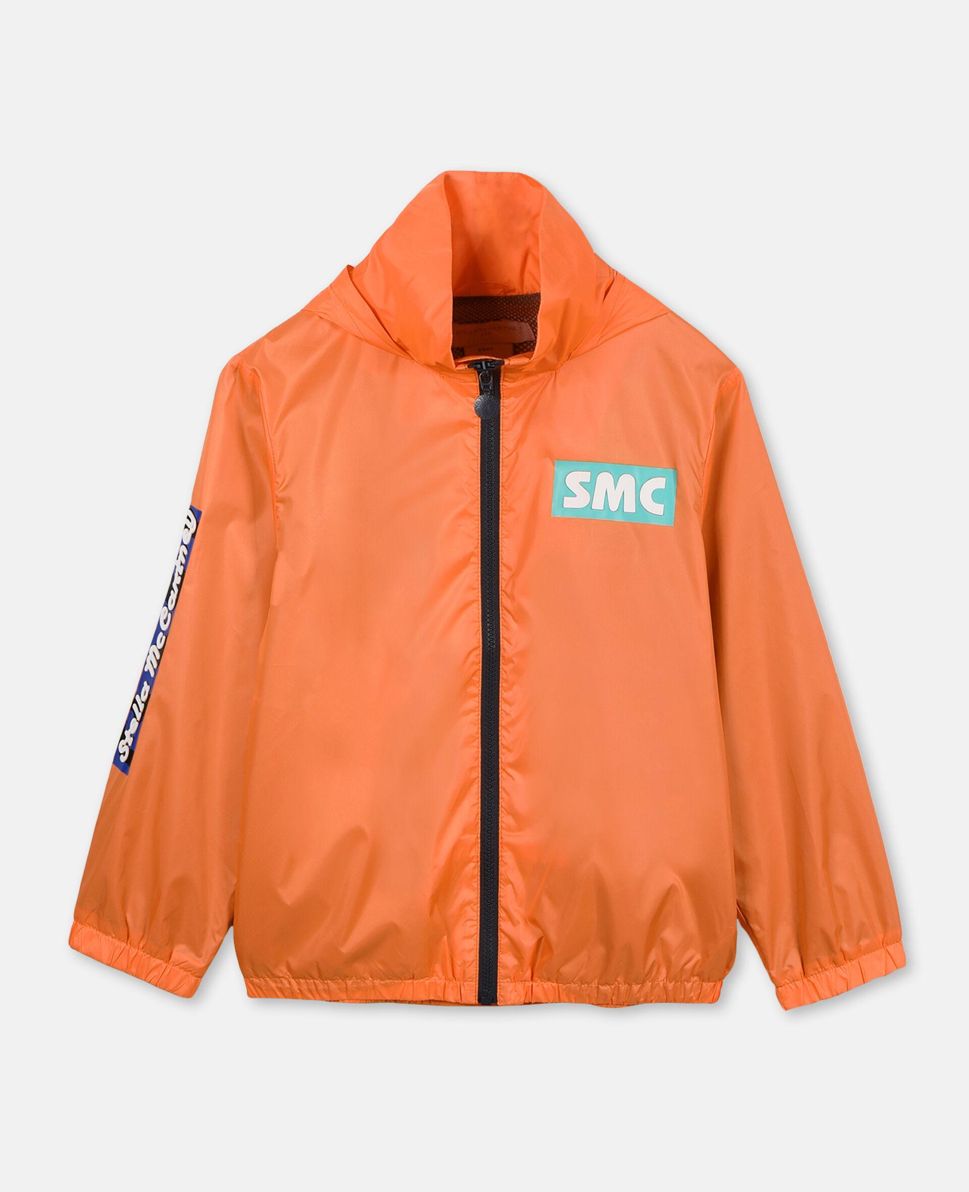Sportliche Nylonjacke mit Logo -Orange-large image number 0