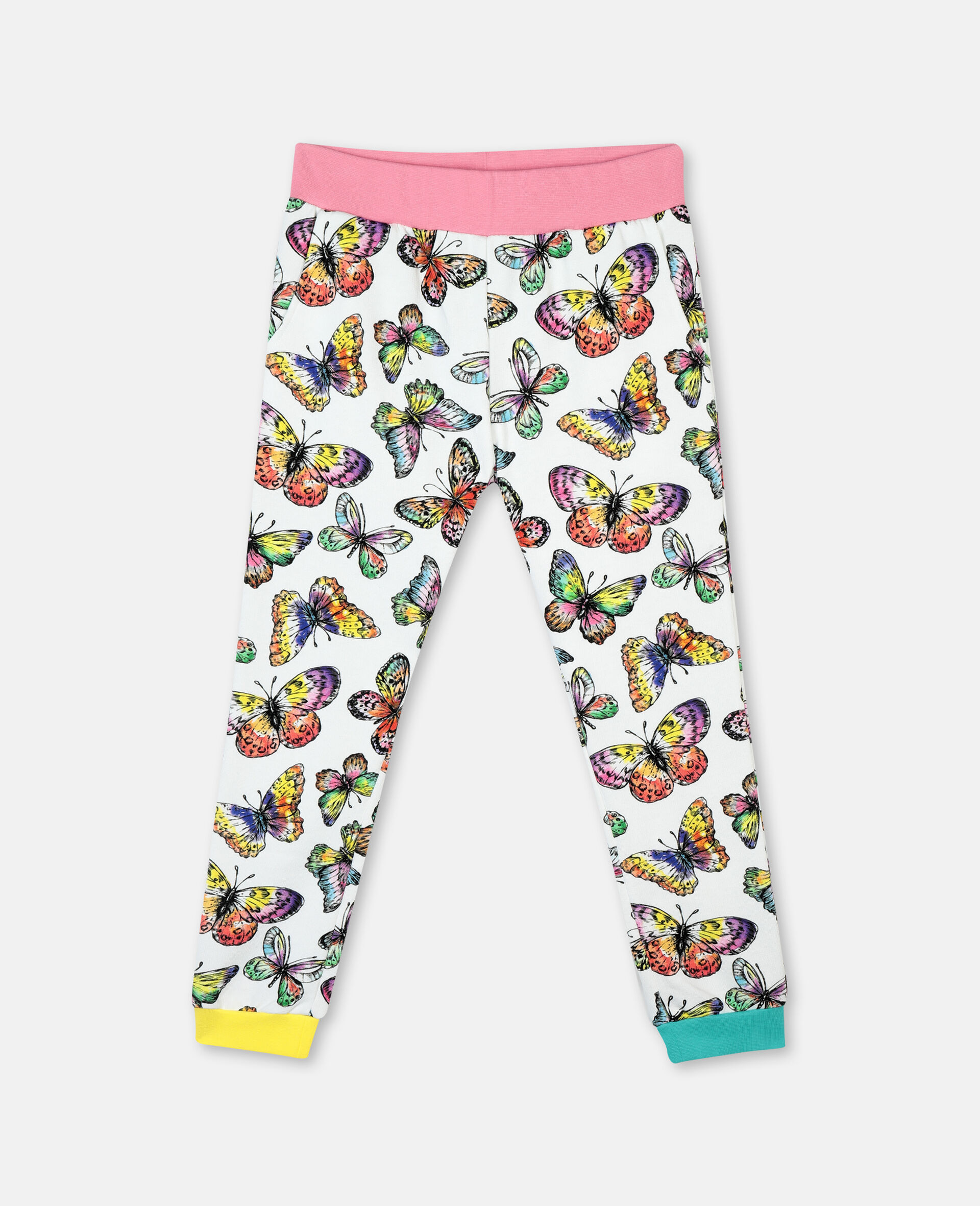 Butterfly Cotton Fleece Joggers -Multicolour-large image number 0