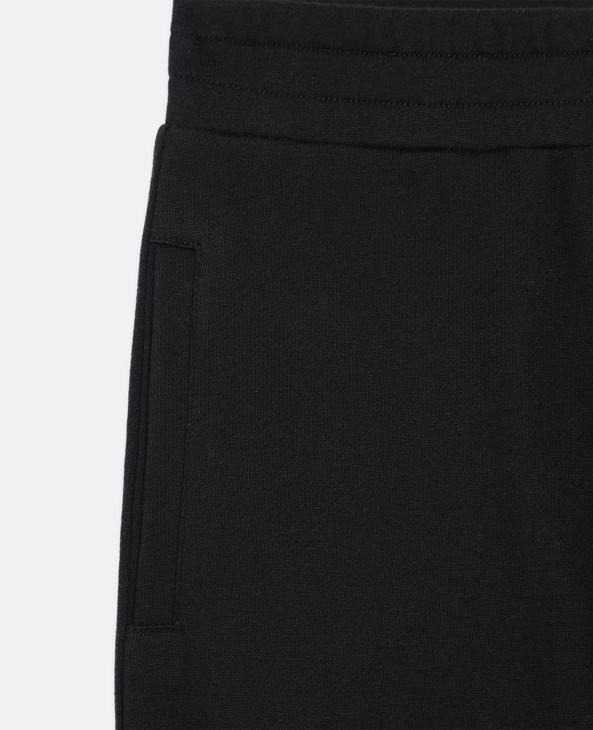 Basic Cotton Sweatpants -Black-large image number 1