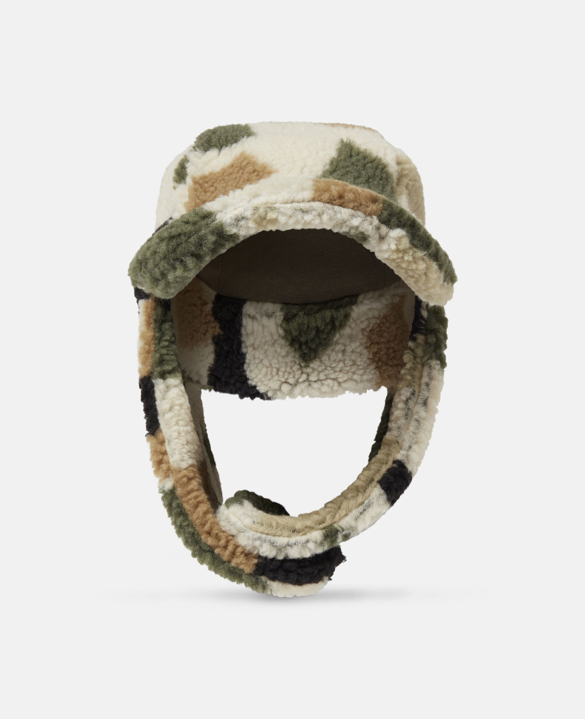 Military Camouflage Teddy Hat-Beige-large image number 0