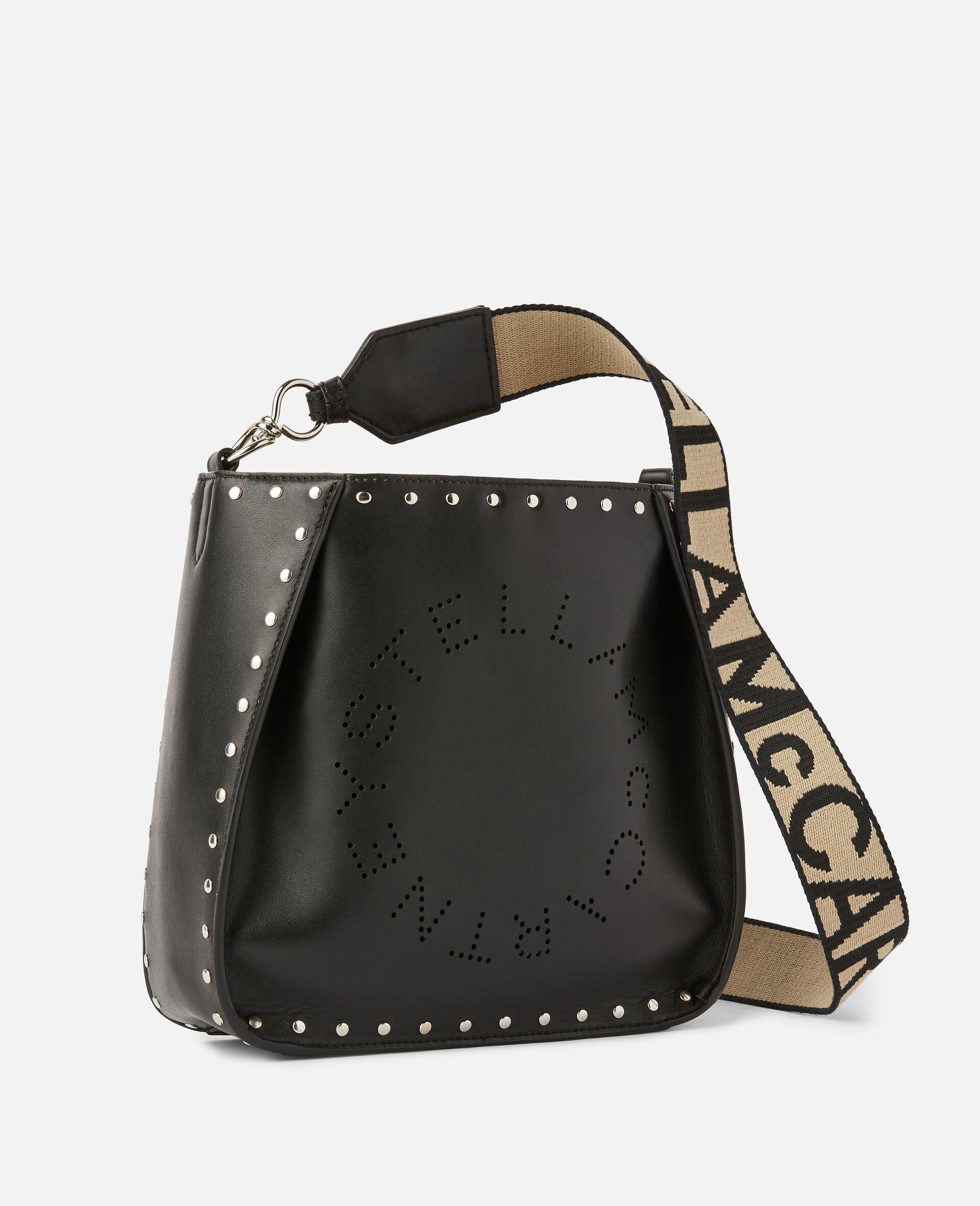 Stella Logo Studded Shoulder Bag-Black-large image number 1