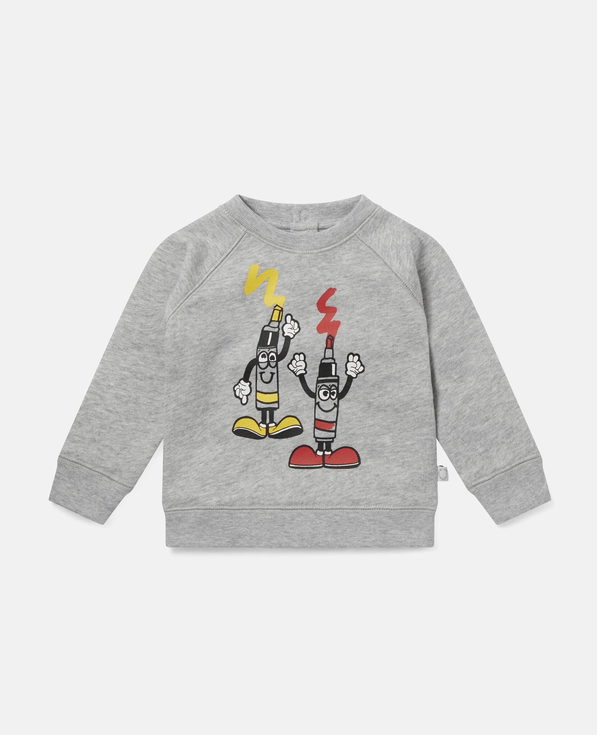 Painting Tubes Fleece Sweatshirt-Grey-large image number 0