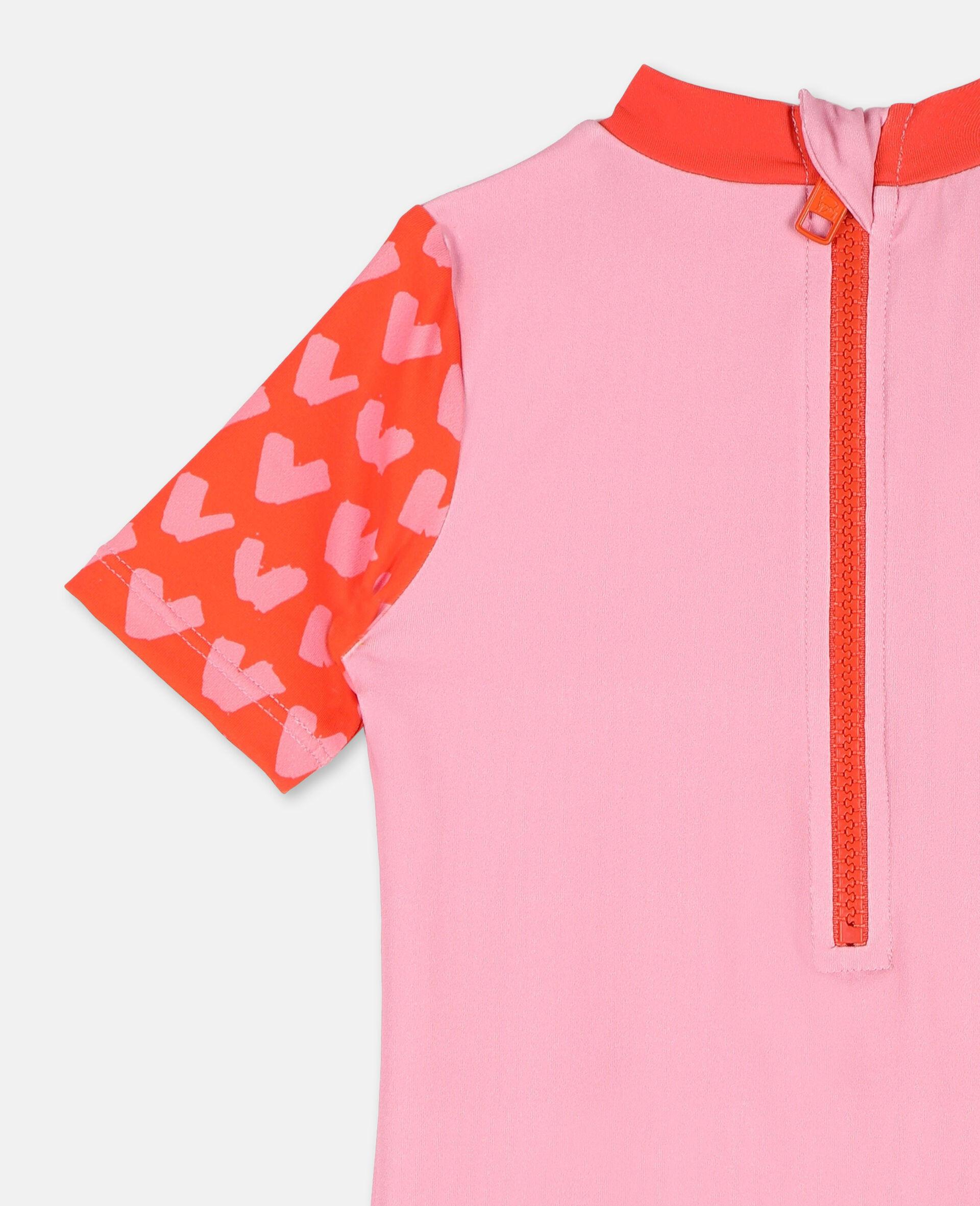 Badeanzug mit Trompe-L'Oeil-Effekt mit Flamingo-Print -Rose-large image number 2