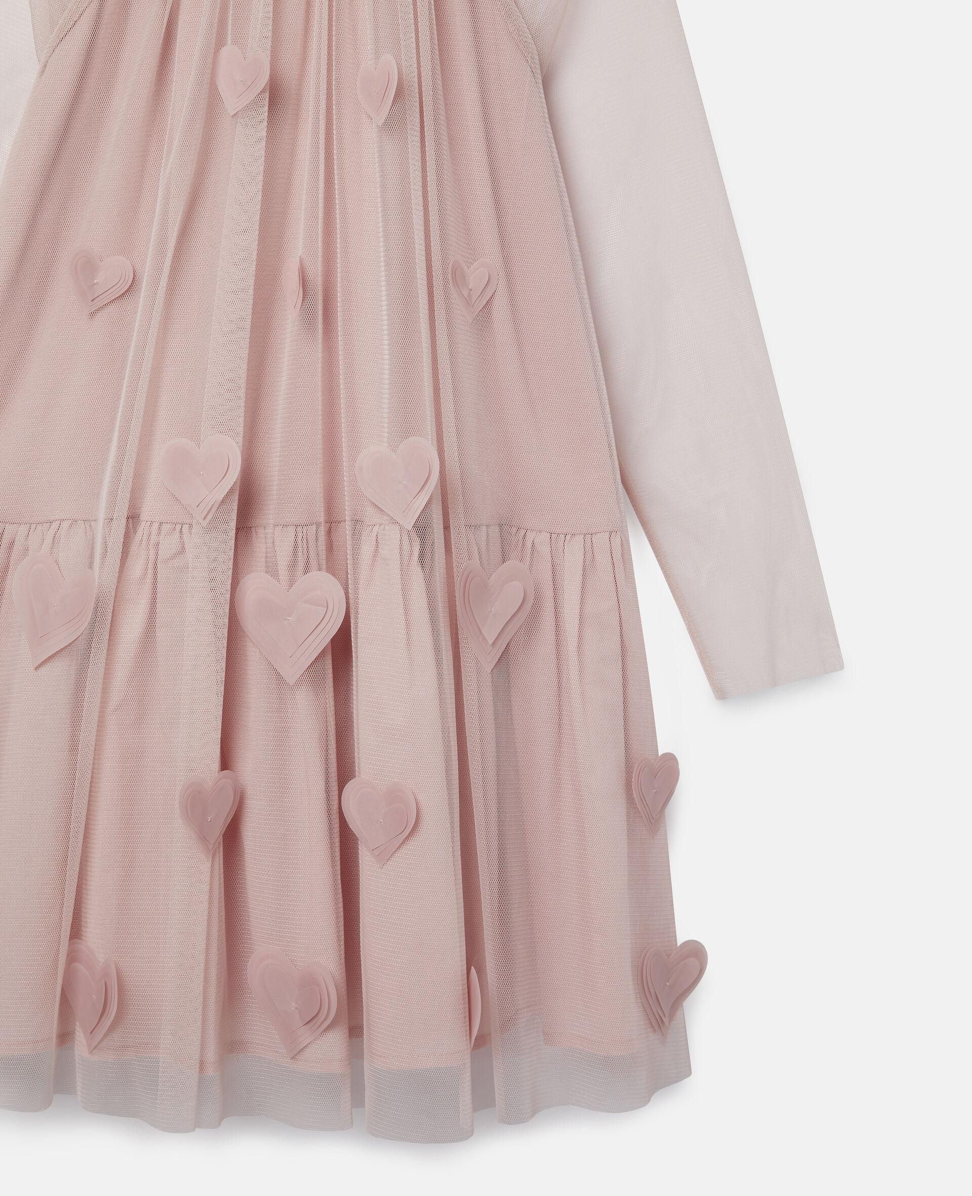 3D Hearts Tulle Dress-Pink-large image number 1