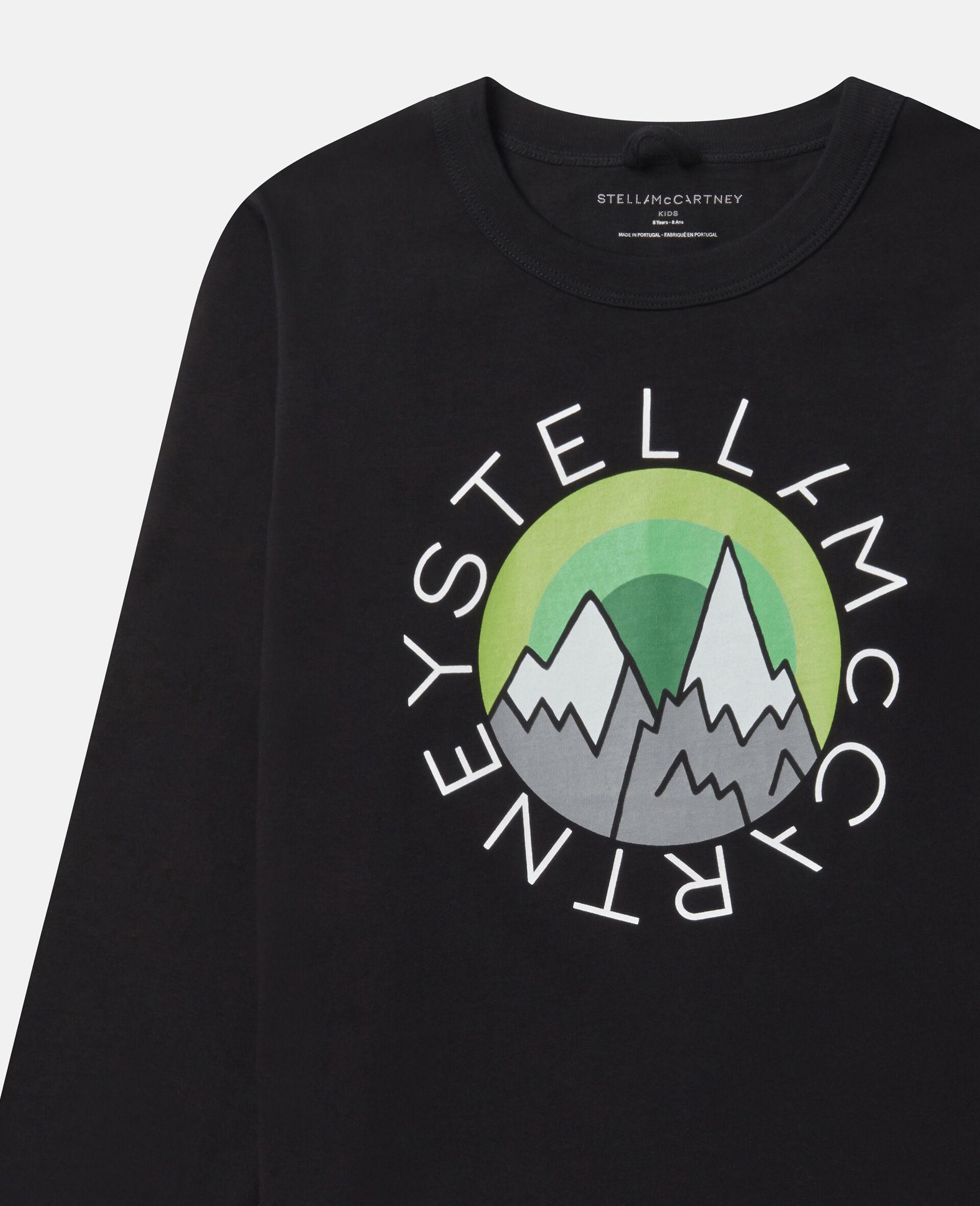 Oversized Logo Mountain Top-Black-large image number 1
