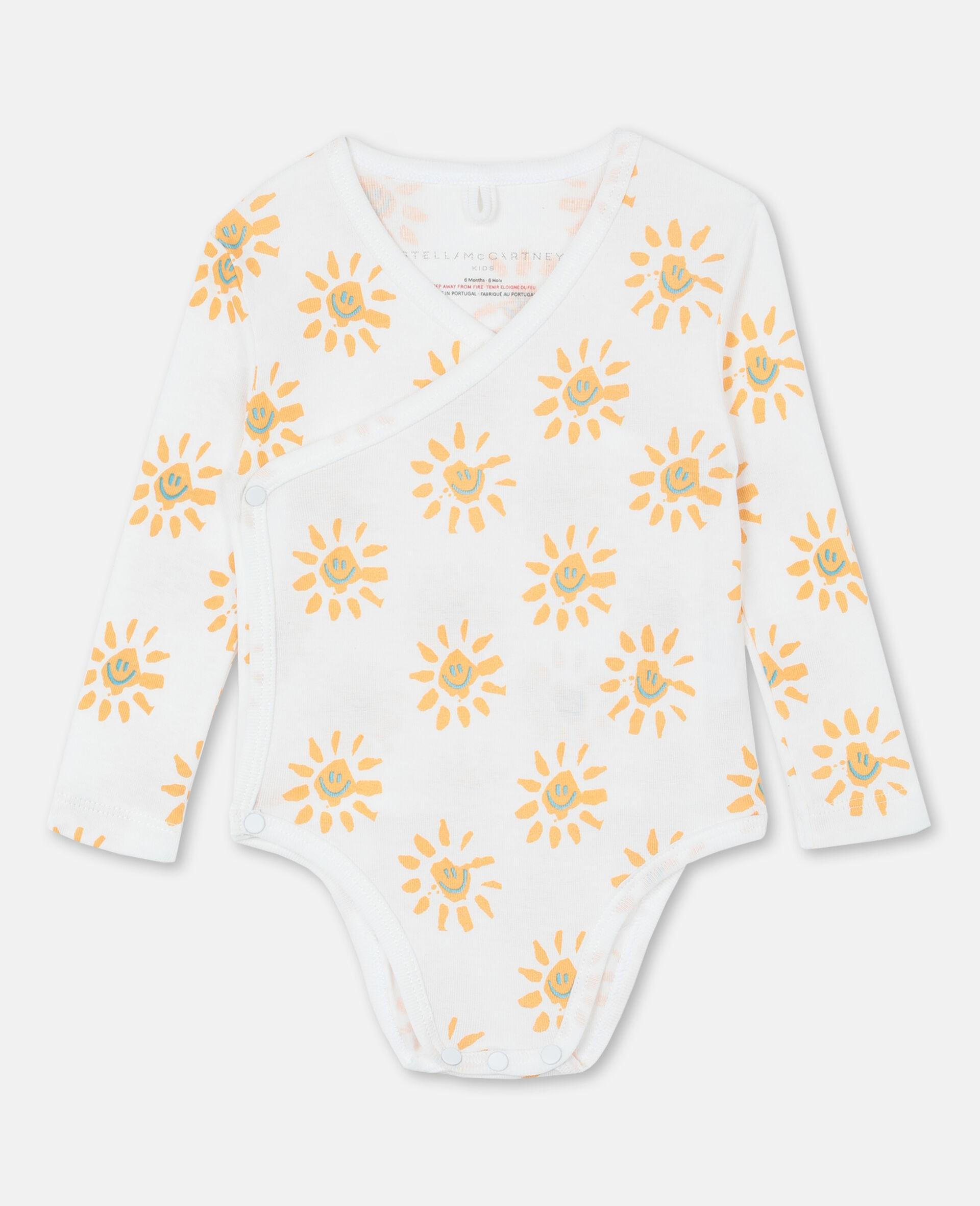 Happy Sun Jersey Rib Bodies Set-Yellow-large image number 4