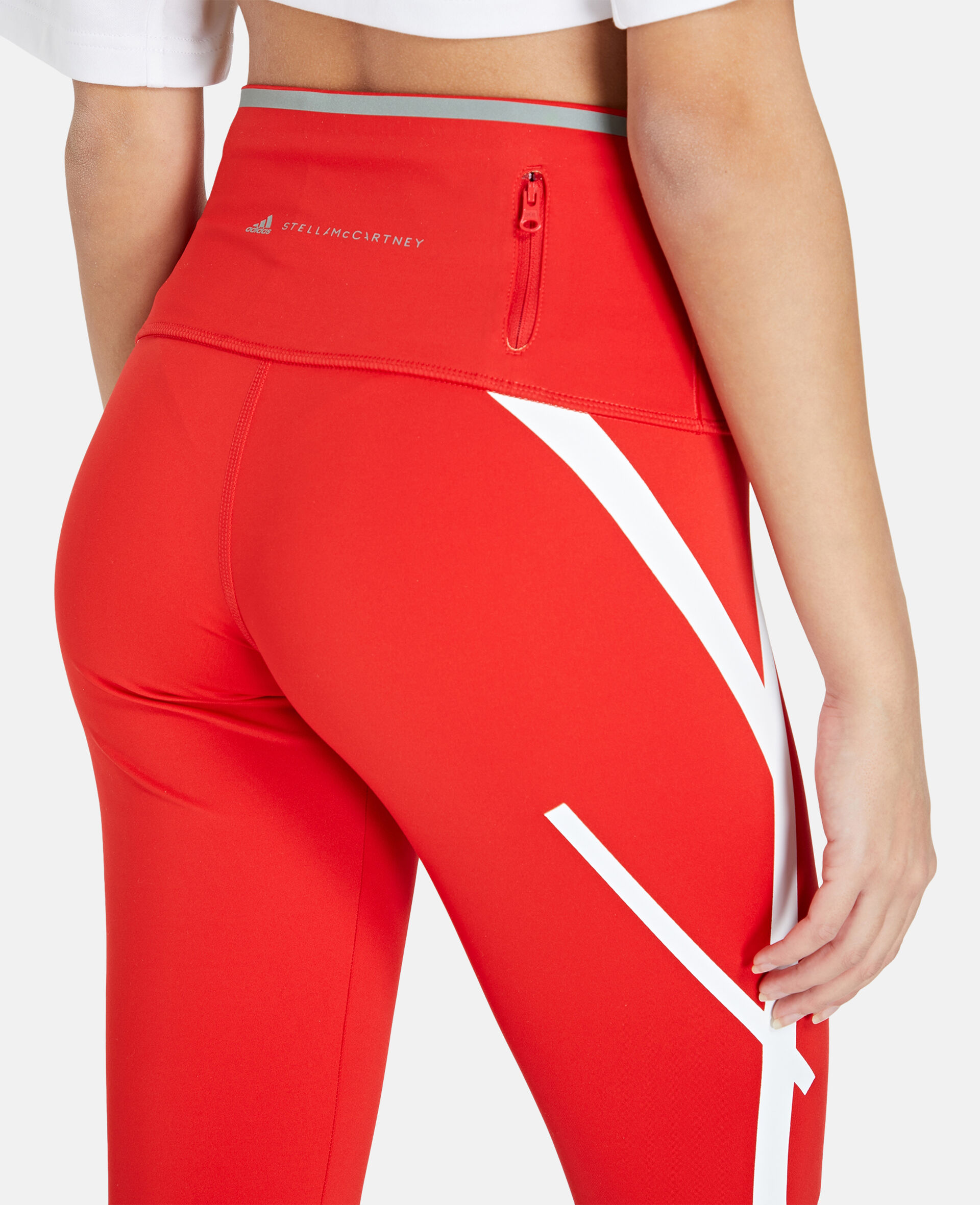 TruePace Long Running Tights-Red-large image number 3