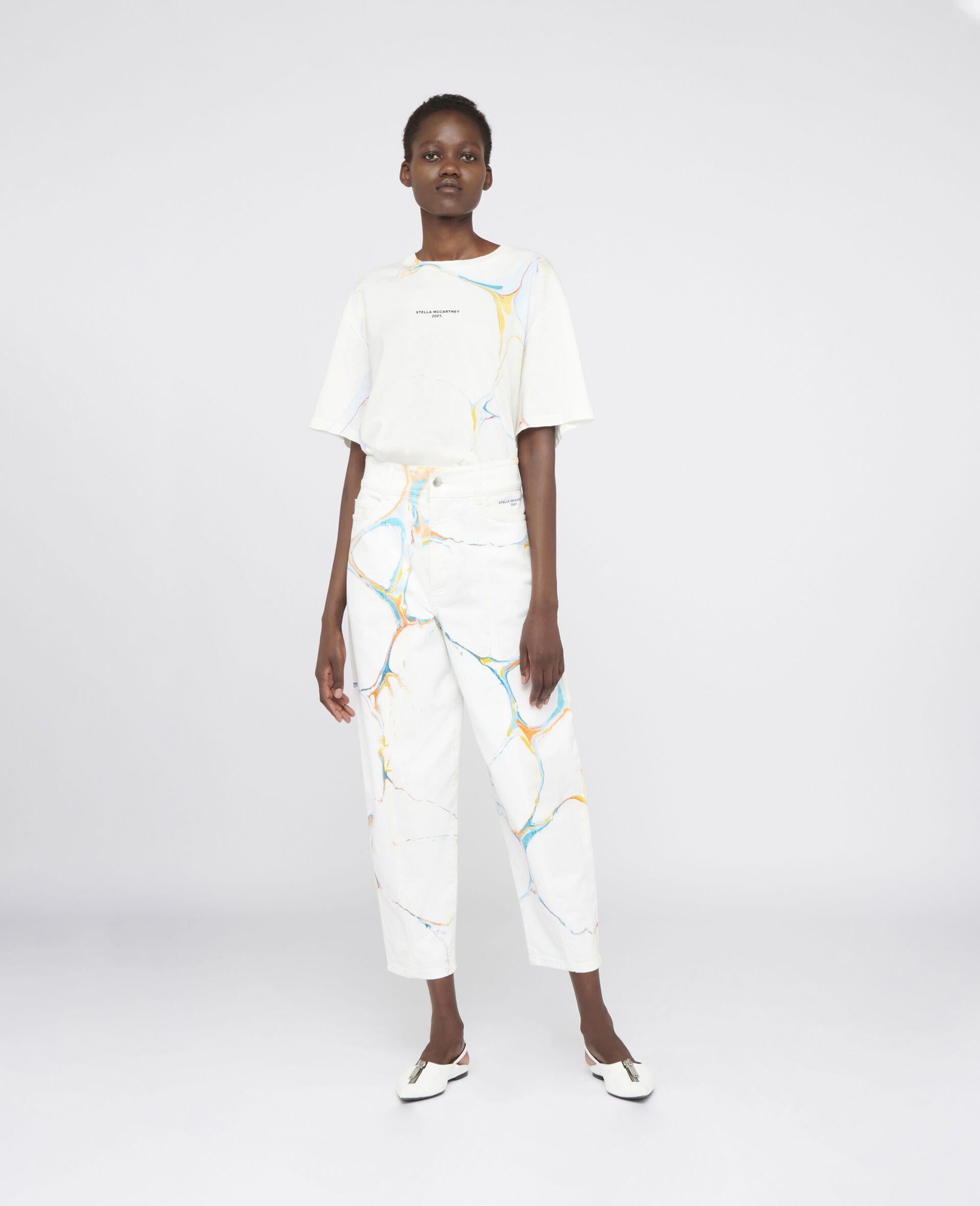 直筒牛仔裤-Multicolored-large image number 1