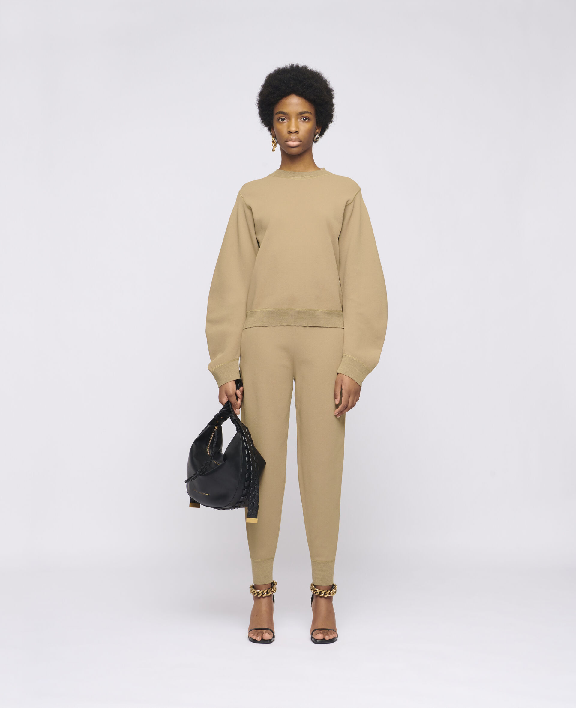 Compact Knit Jumper-Brown-large image number 1