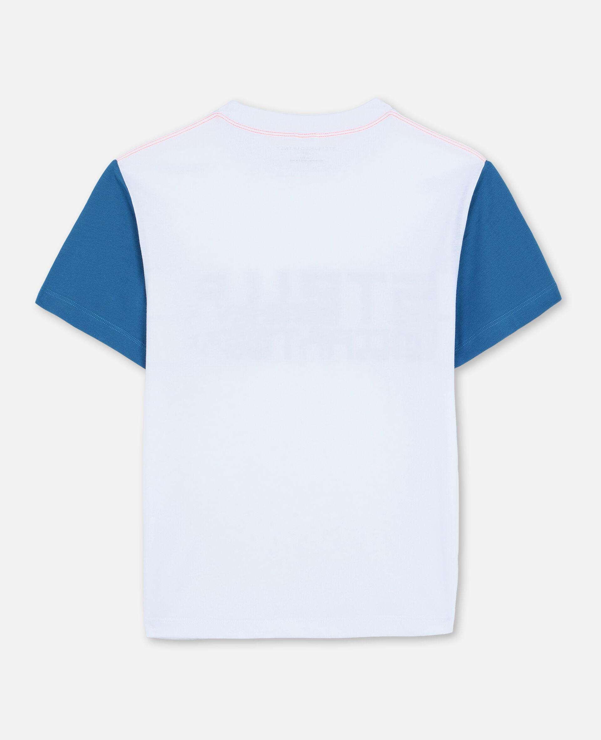 Oversize Logo Cotton Sport T-shirt -White-large image number 3