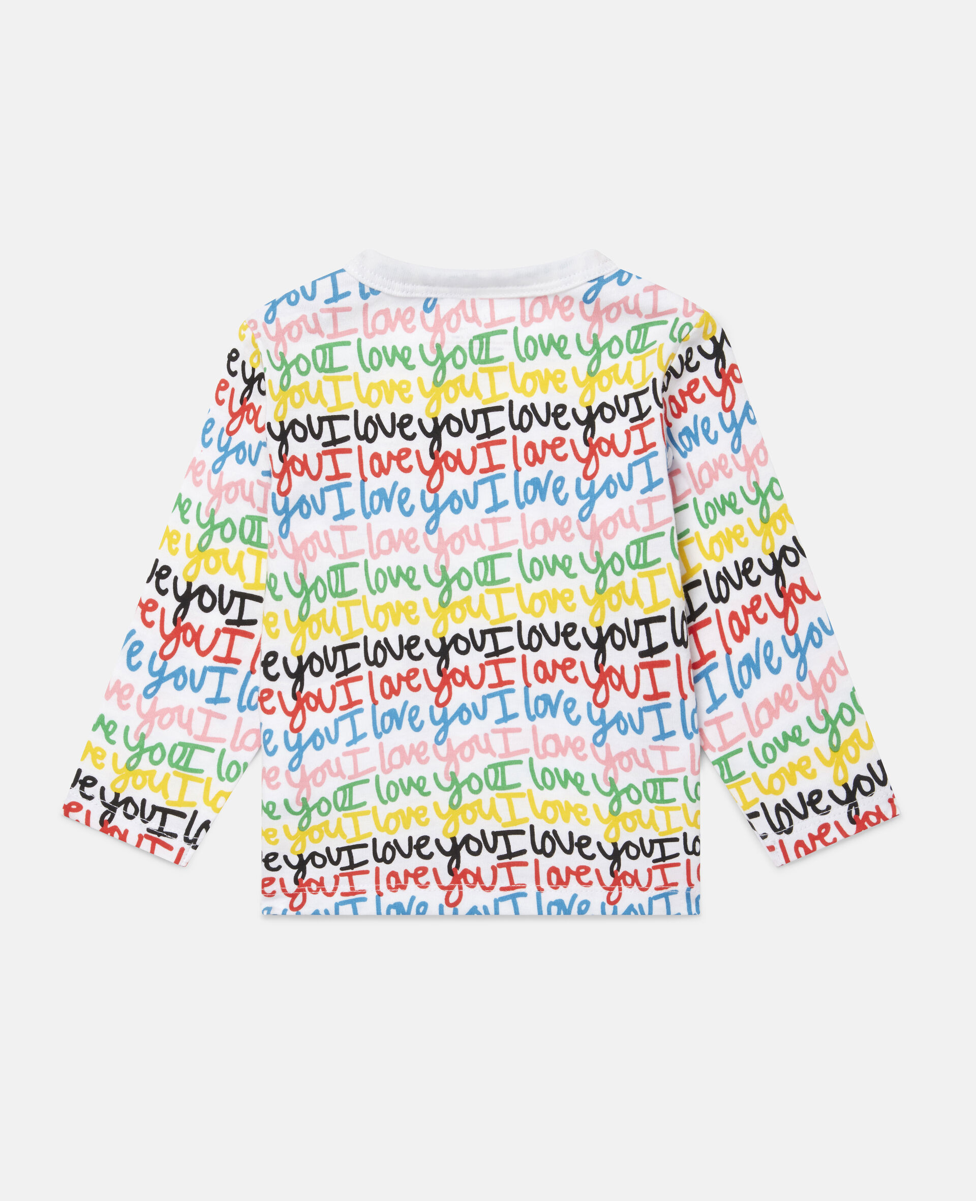'Love You' Cotton Top-Multicolour-large image number 3