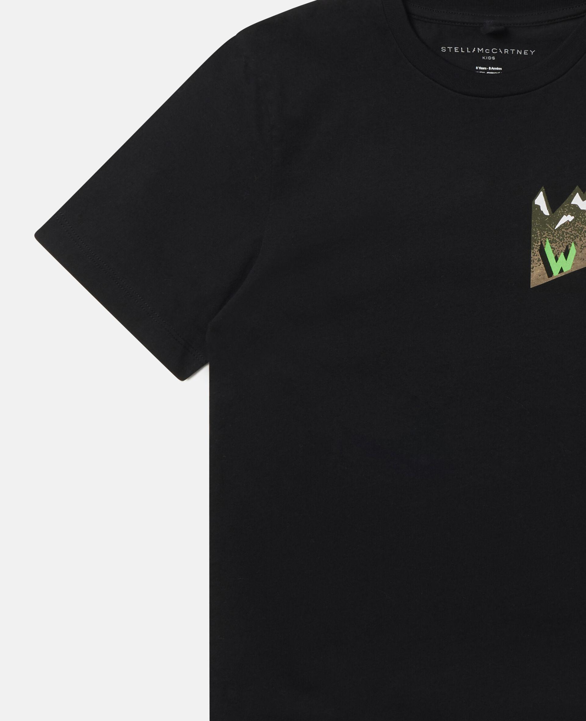 Oversized Mountain T-shirt-Black-large image number 2