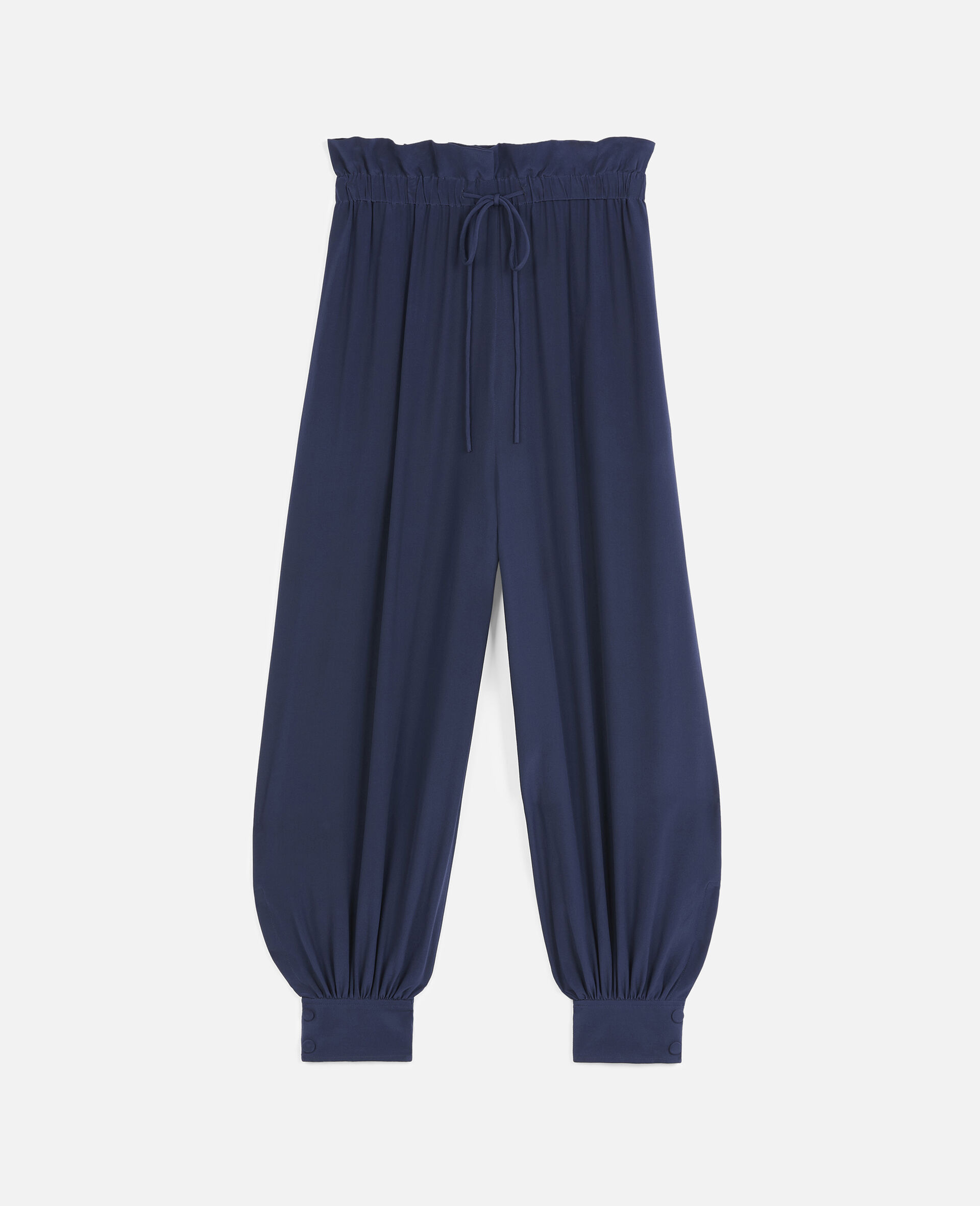 Lauryn Silk Trousers-Blue-large