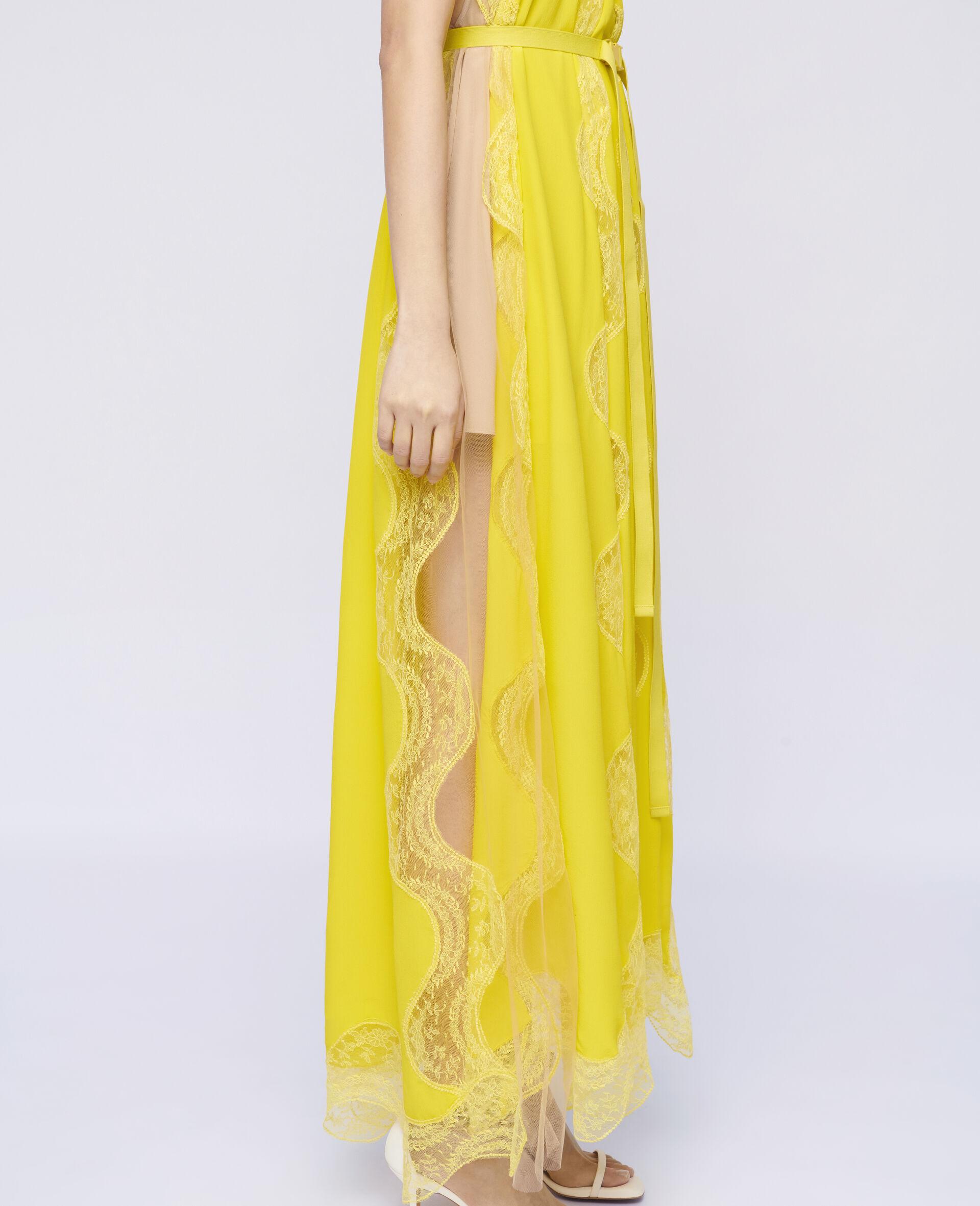 Tiffany Lace Dress -Yellow-large image number 3