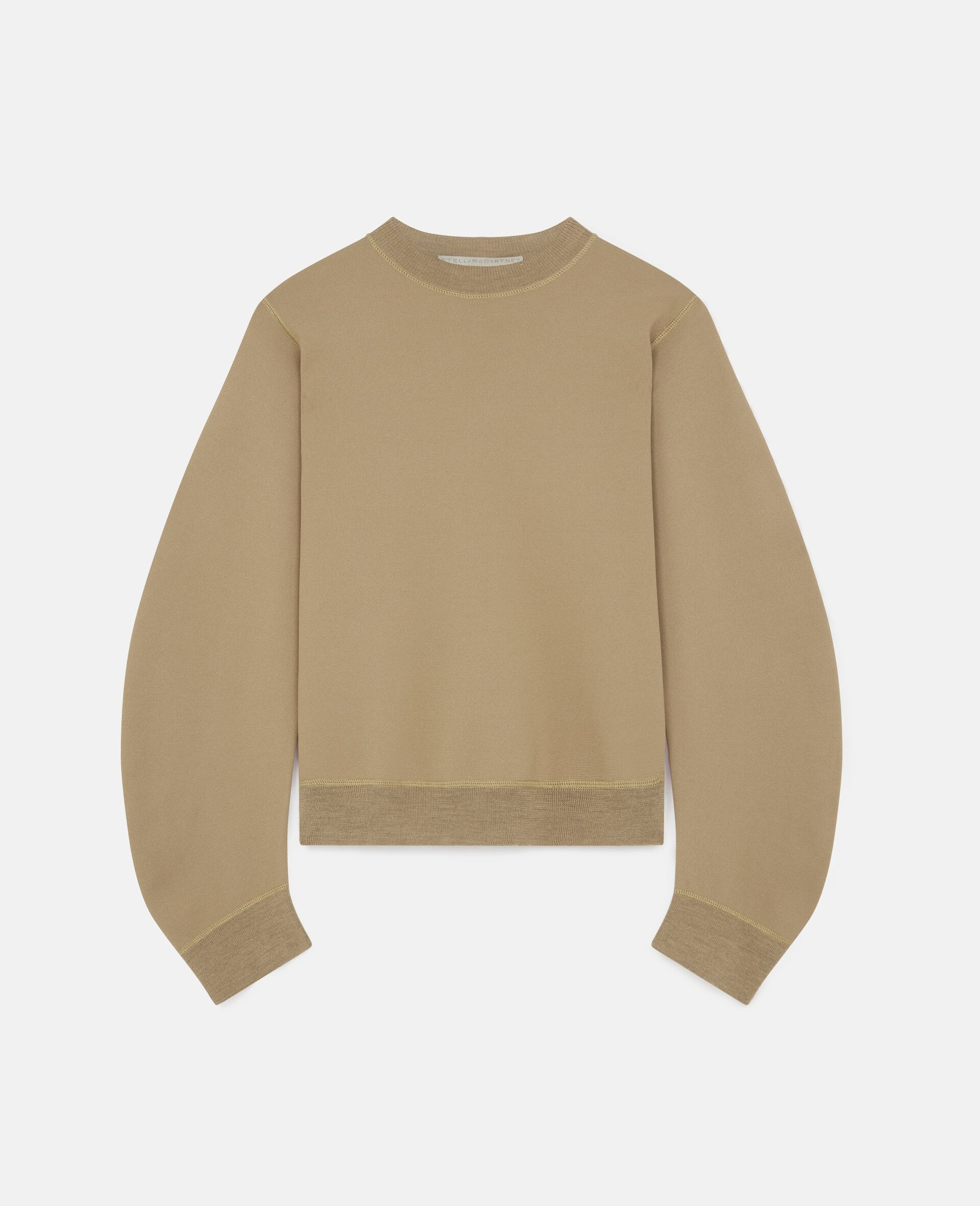 Compact Knit Sweater-Brown-large image number 0