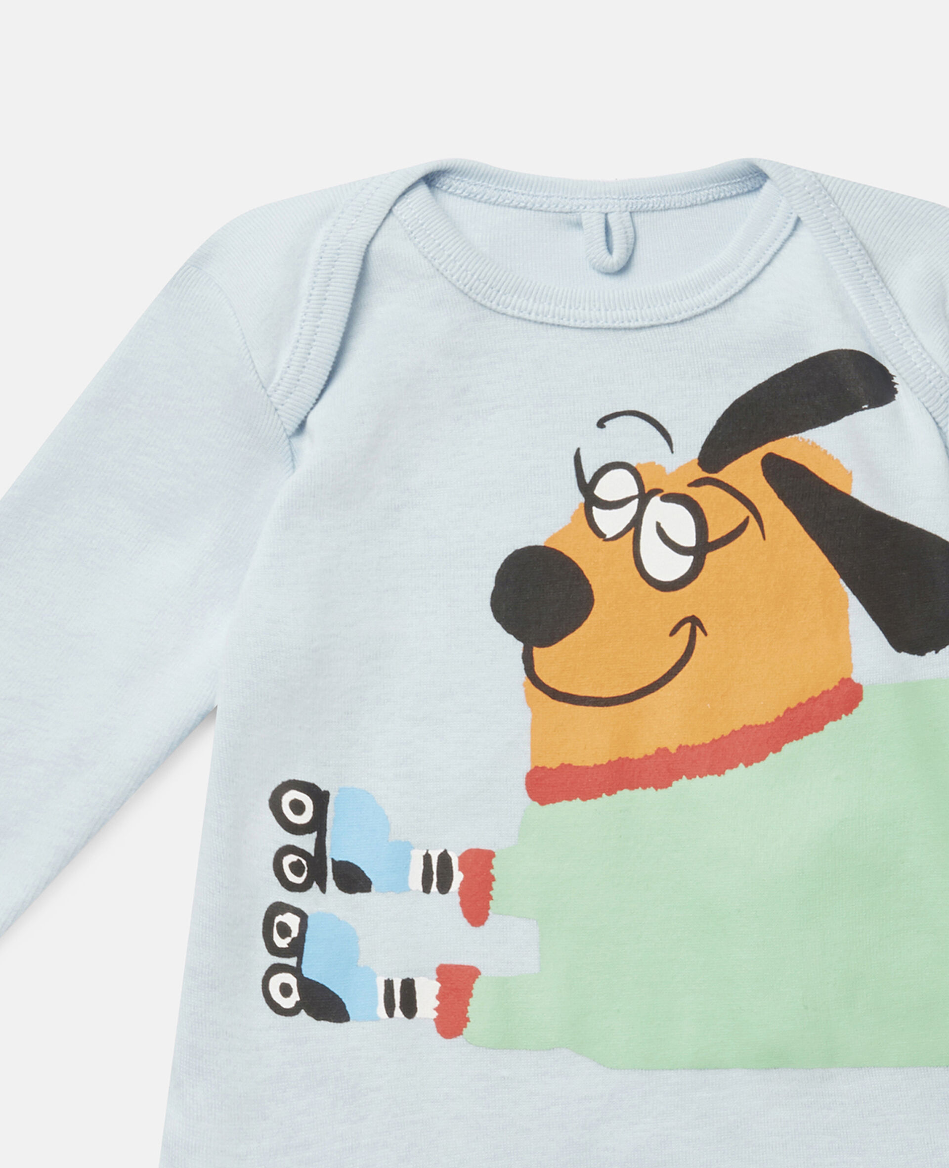Baby Doggies Jersey Rib Babygrow & Body-Multicolour-large image number 2