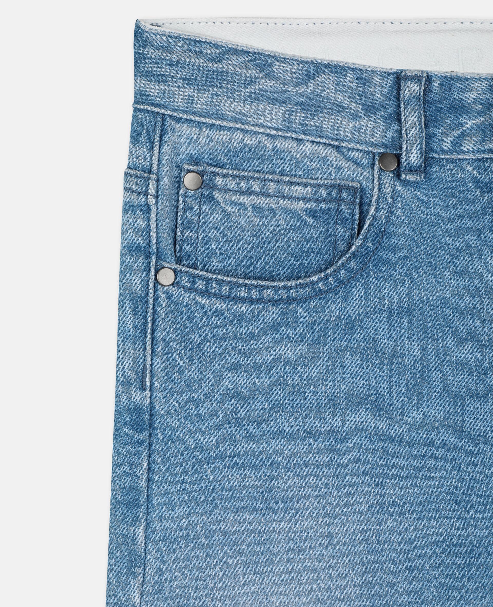 Regular Denim Trousers -Blue-large image number 1