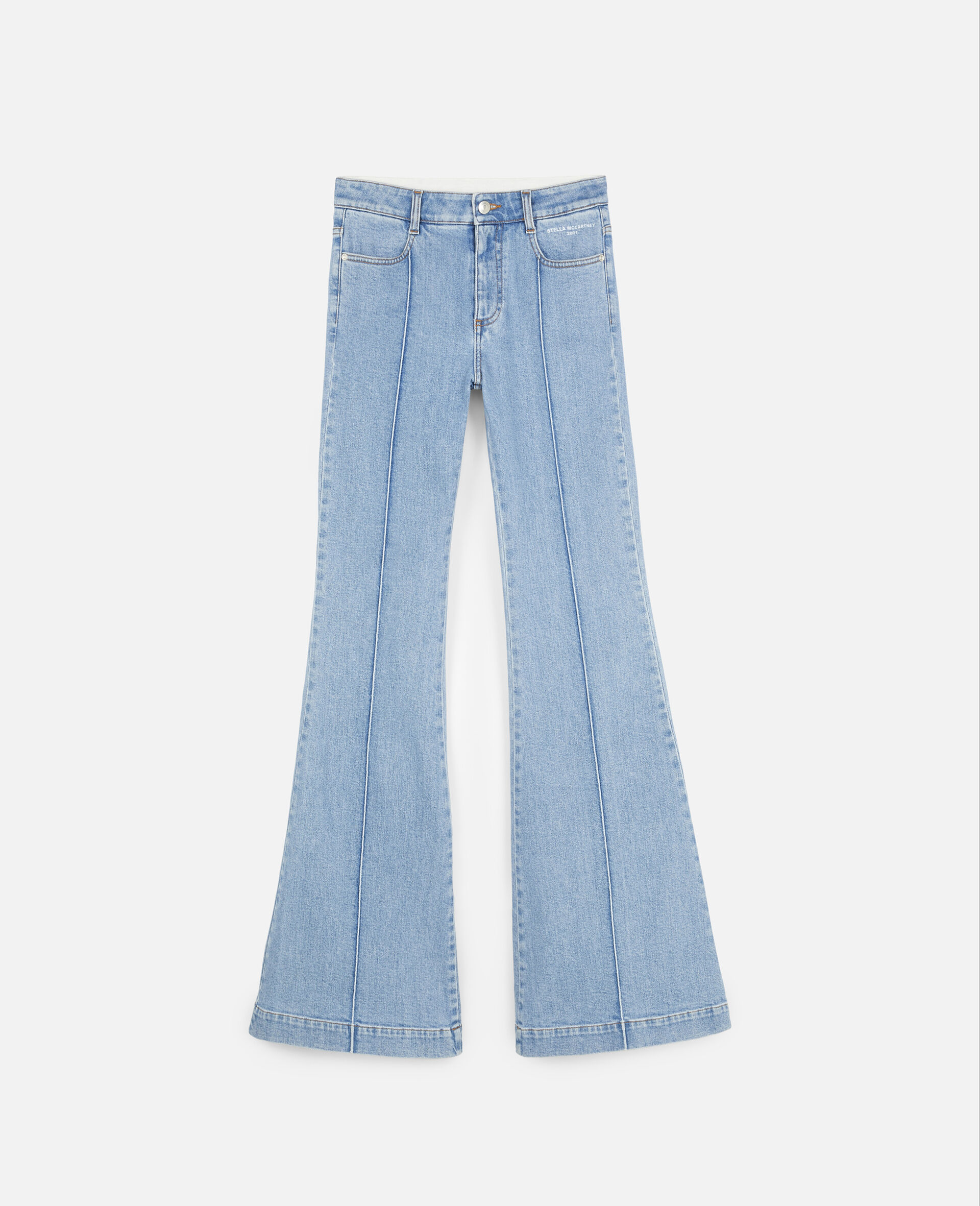 The '70s Flared Trousers-Blue-large image number 0