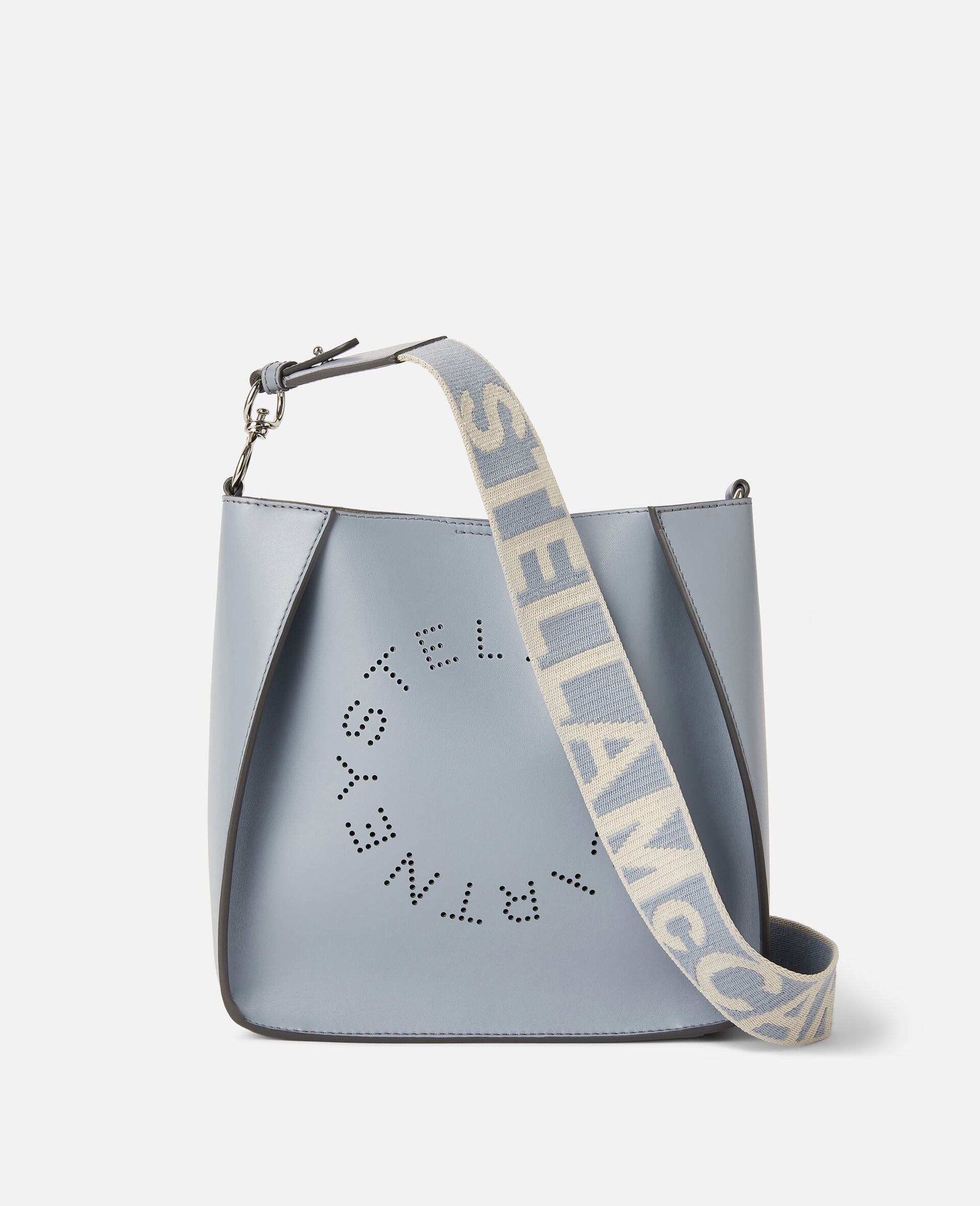 Stella Logo Shoulder Bag-Grey-large