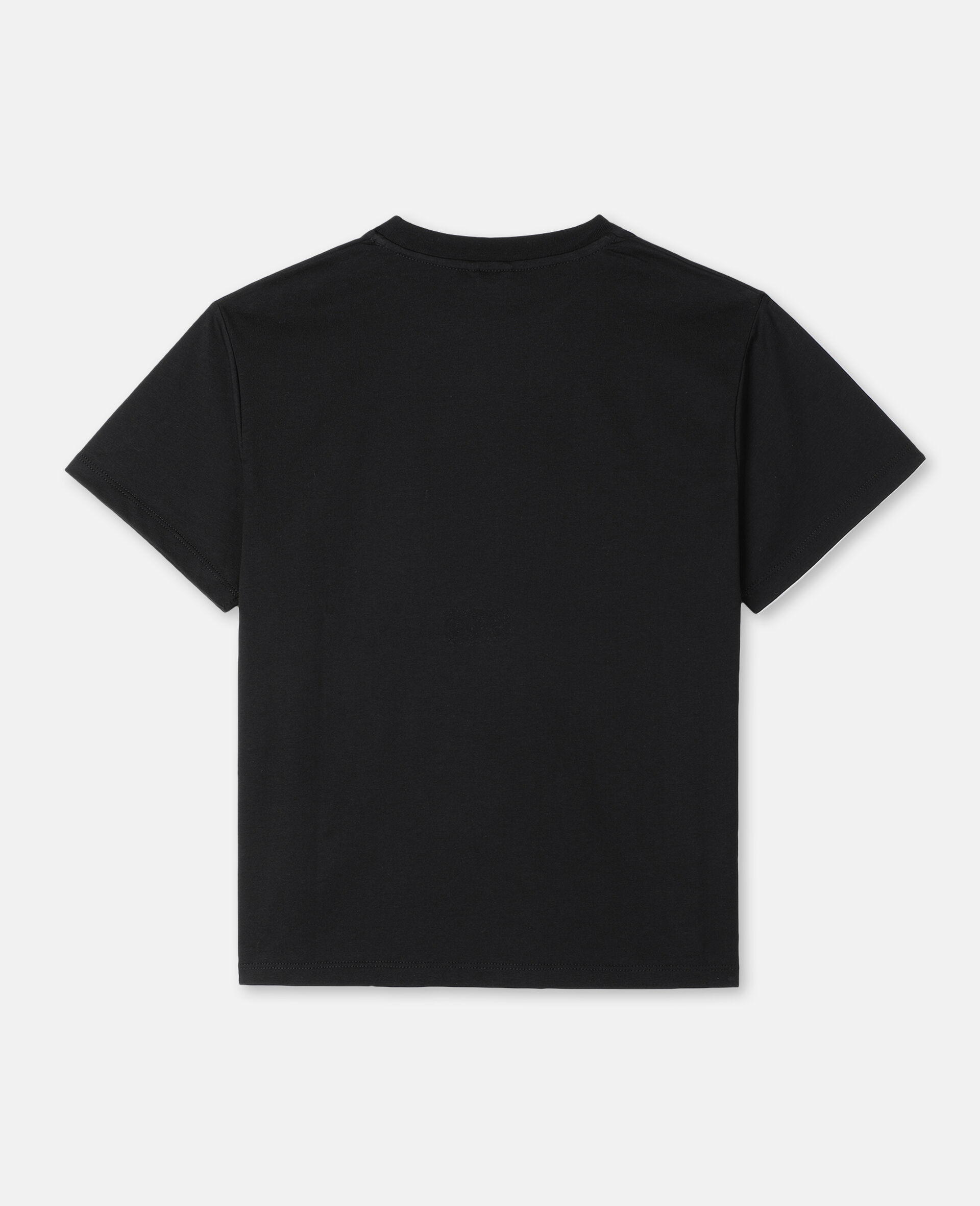 Oversize Logo Palm Cotton T-shirt -Black-large image number 3