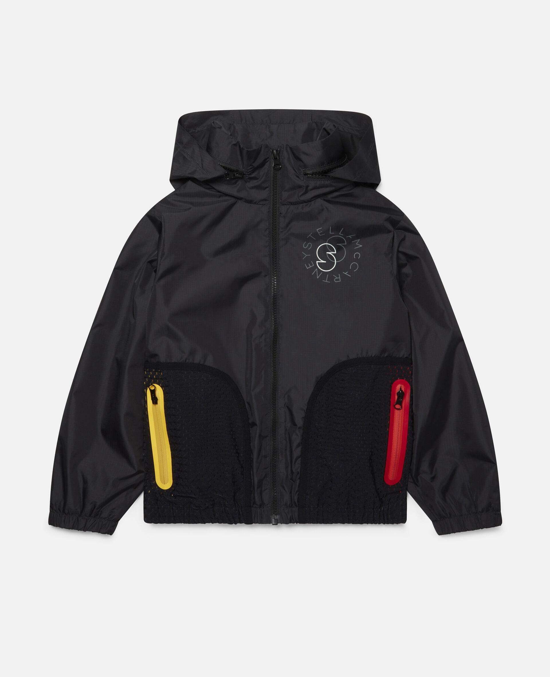 Active Hooded Jacket-Black-large image number 0