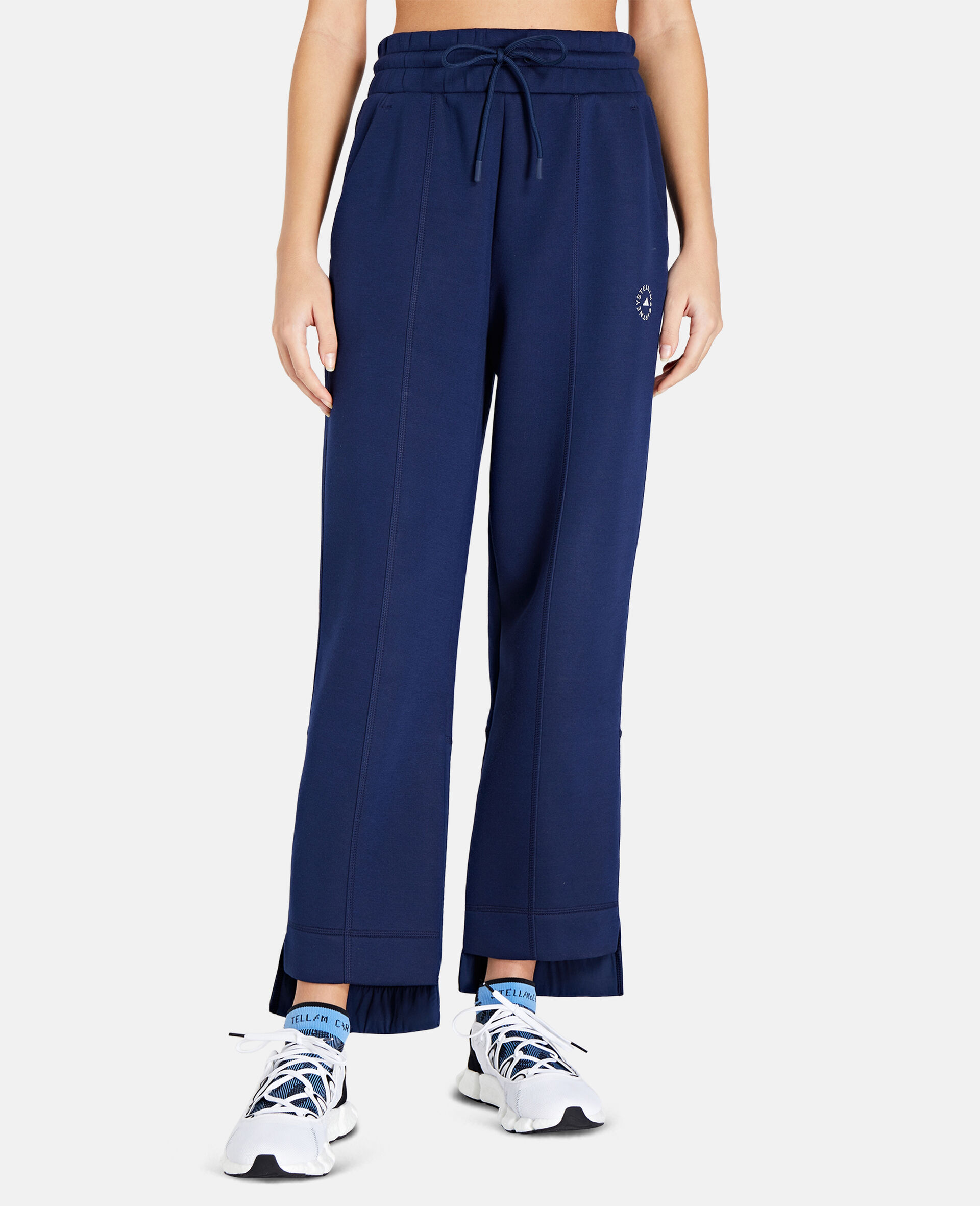 Blue Tapered Sweatpants-Blue-large image number 4