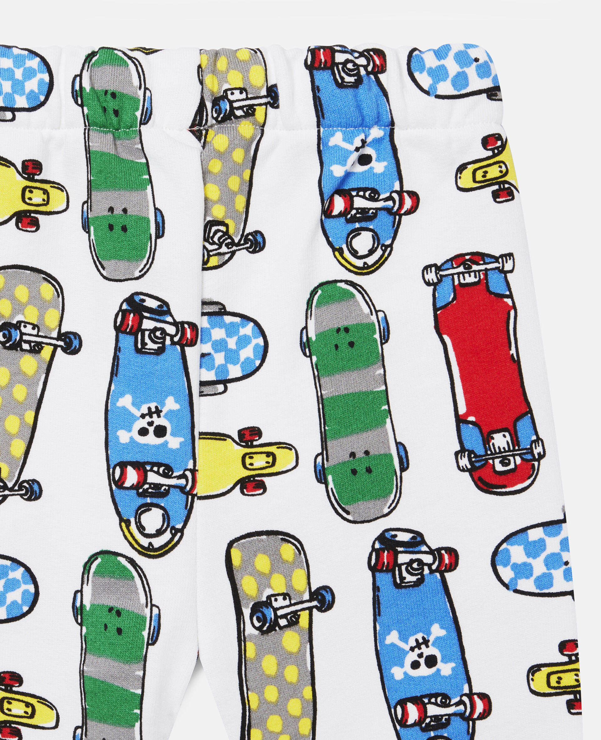 Skateboards Fleece Joggers-White-large image number 2