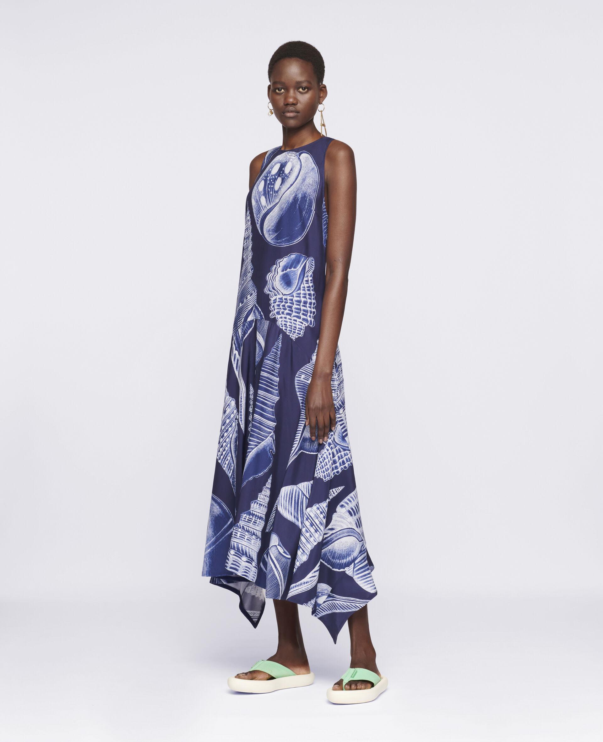 Anabelle Silk Dress-Blue-large image number 1
