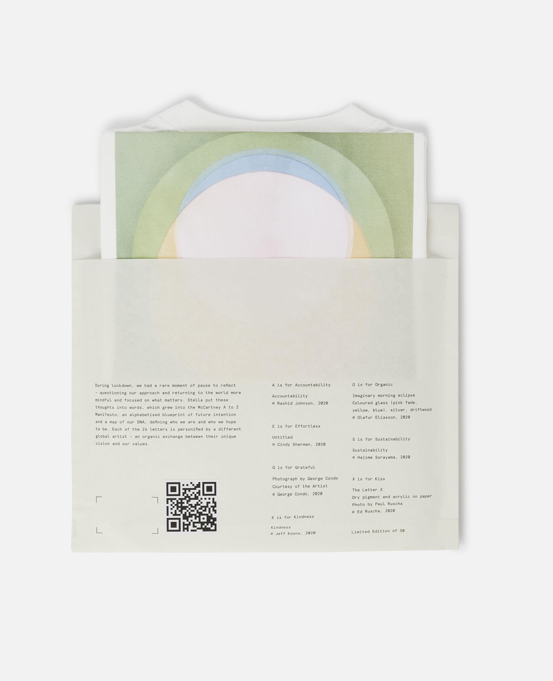 "T-Shirt ""O"" di Olafur Eliasson-Bianco-large image number 5"