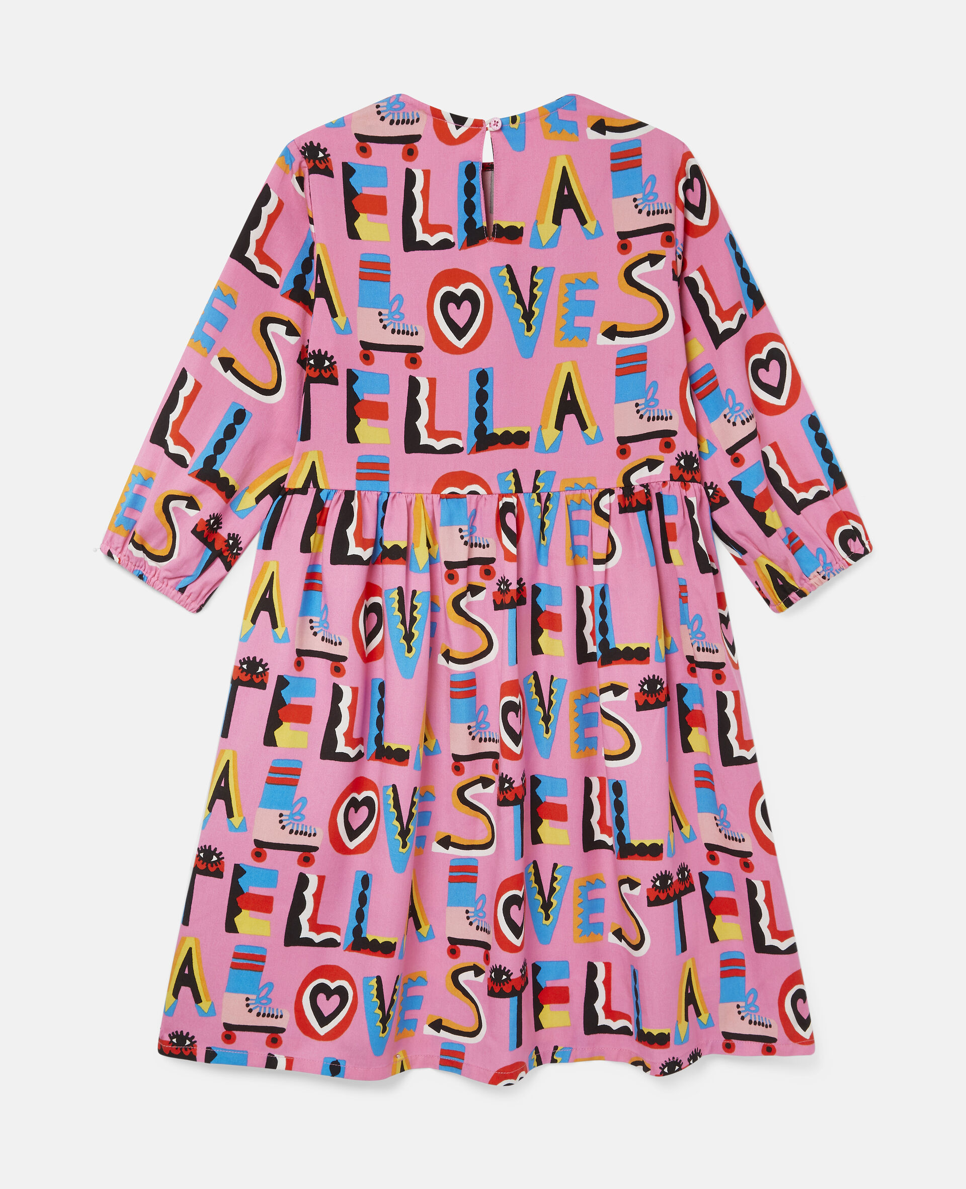 Stella Loves Twill Dress-Pink-large image number 3