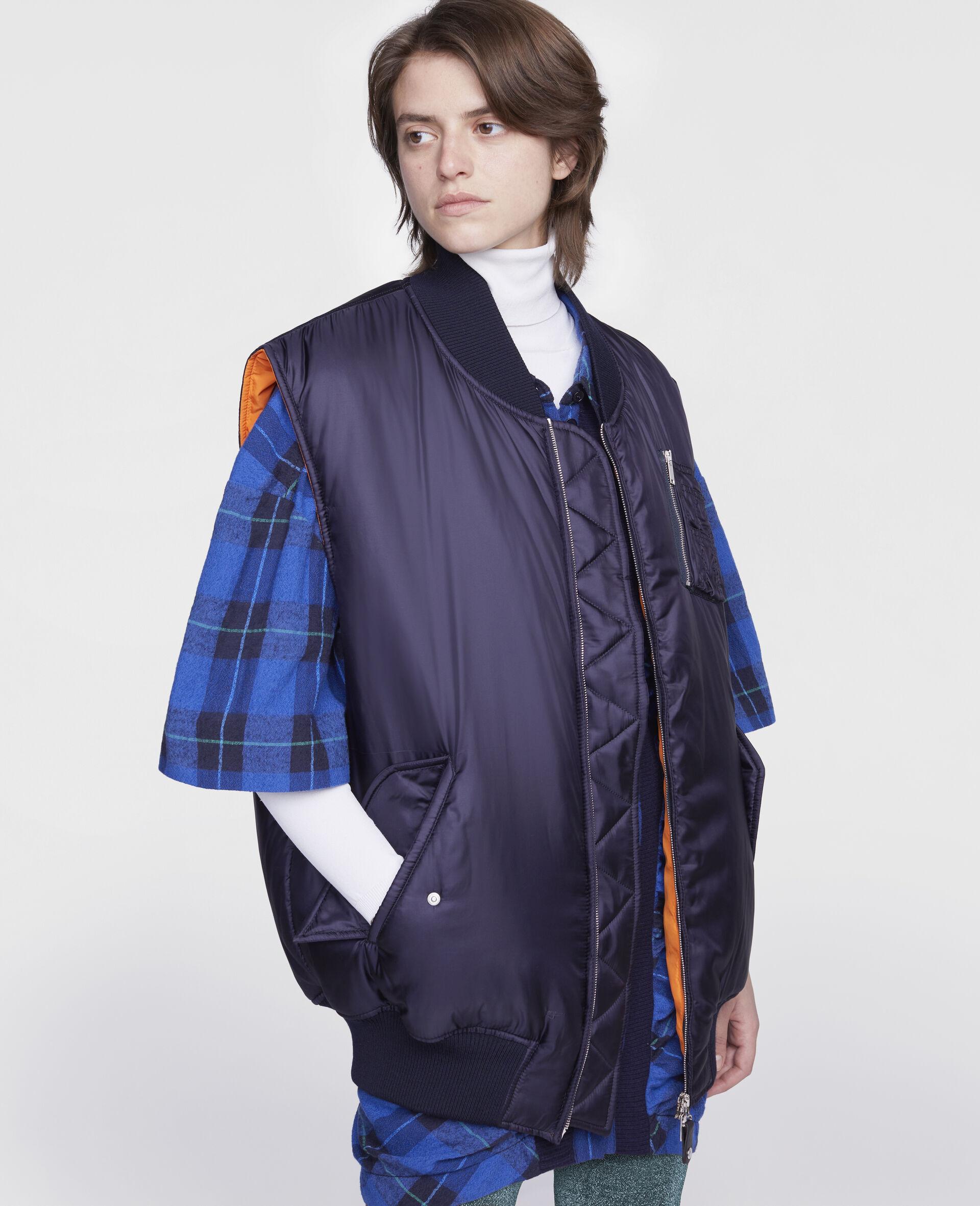 Madora Sleeveless Jacket-Blue-large image number 3