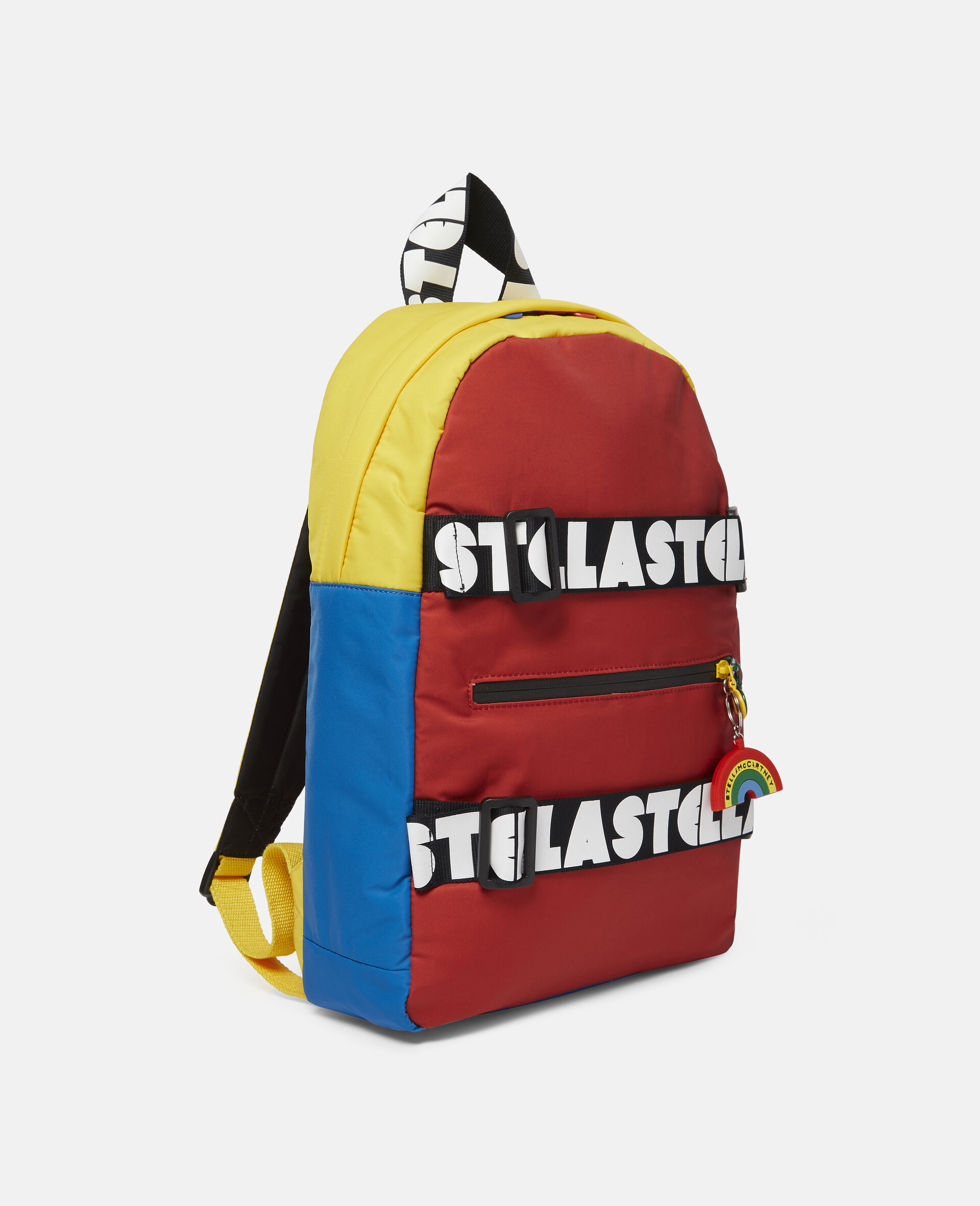 Colourblock Logo Backpack-Multicolour-large image number 1