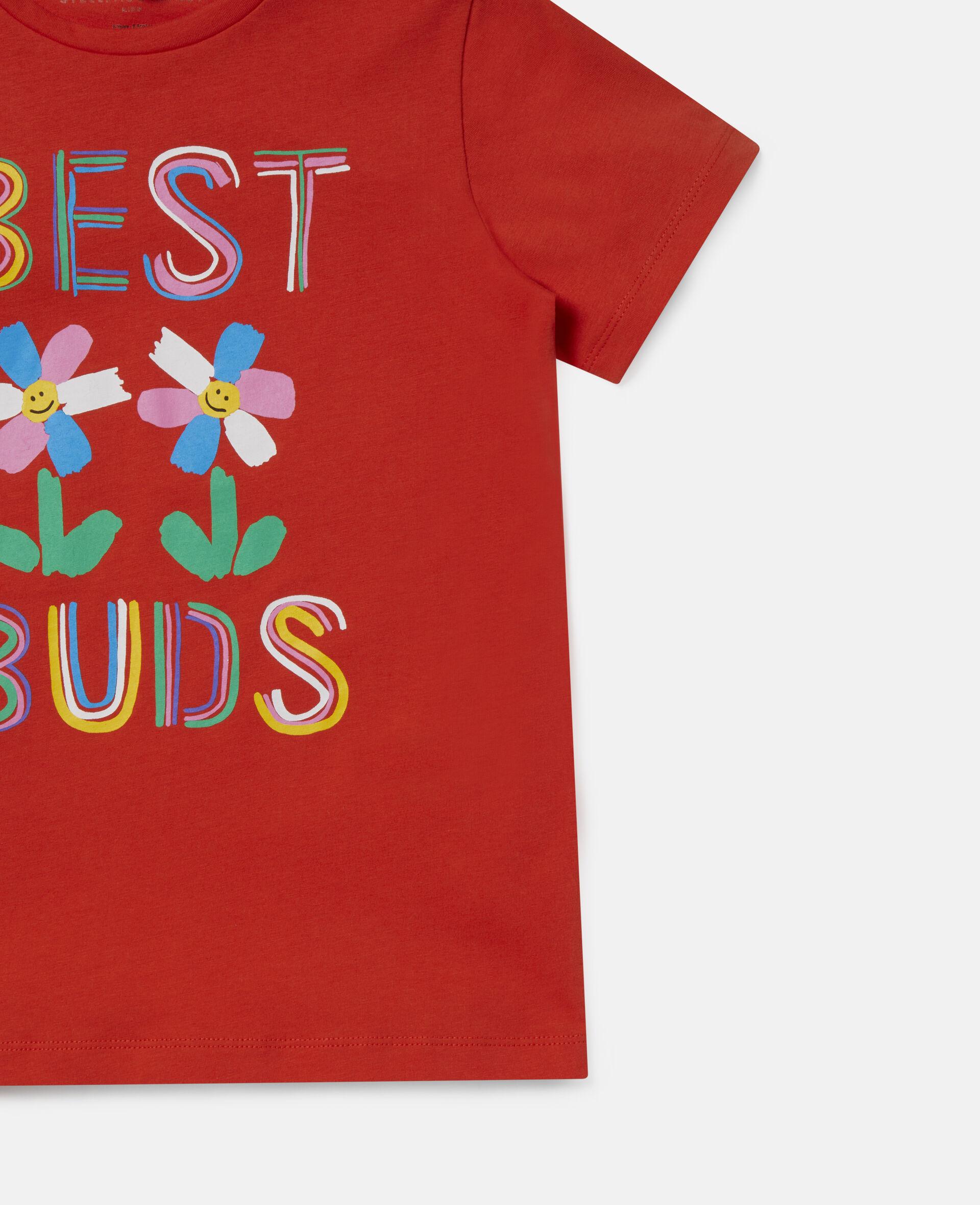 Best Buds 印花棉质 T 恤-红色-large image number 1