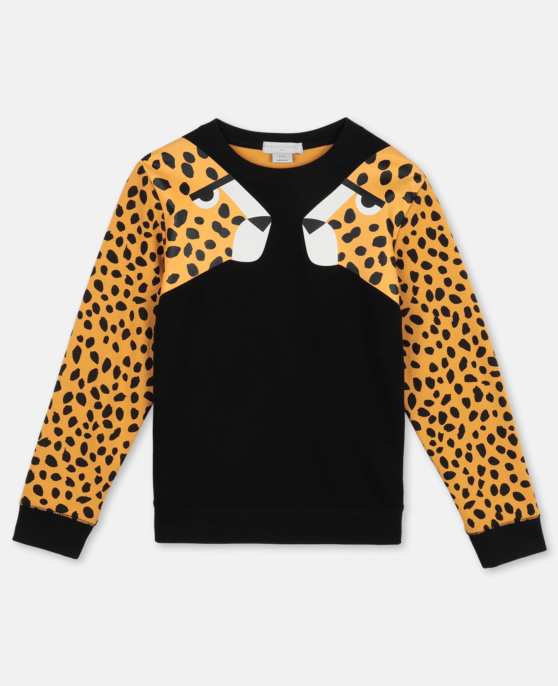 Cheetah Dots Cotton Fleece Sweatshirt -Multicoloured-large image number 0