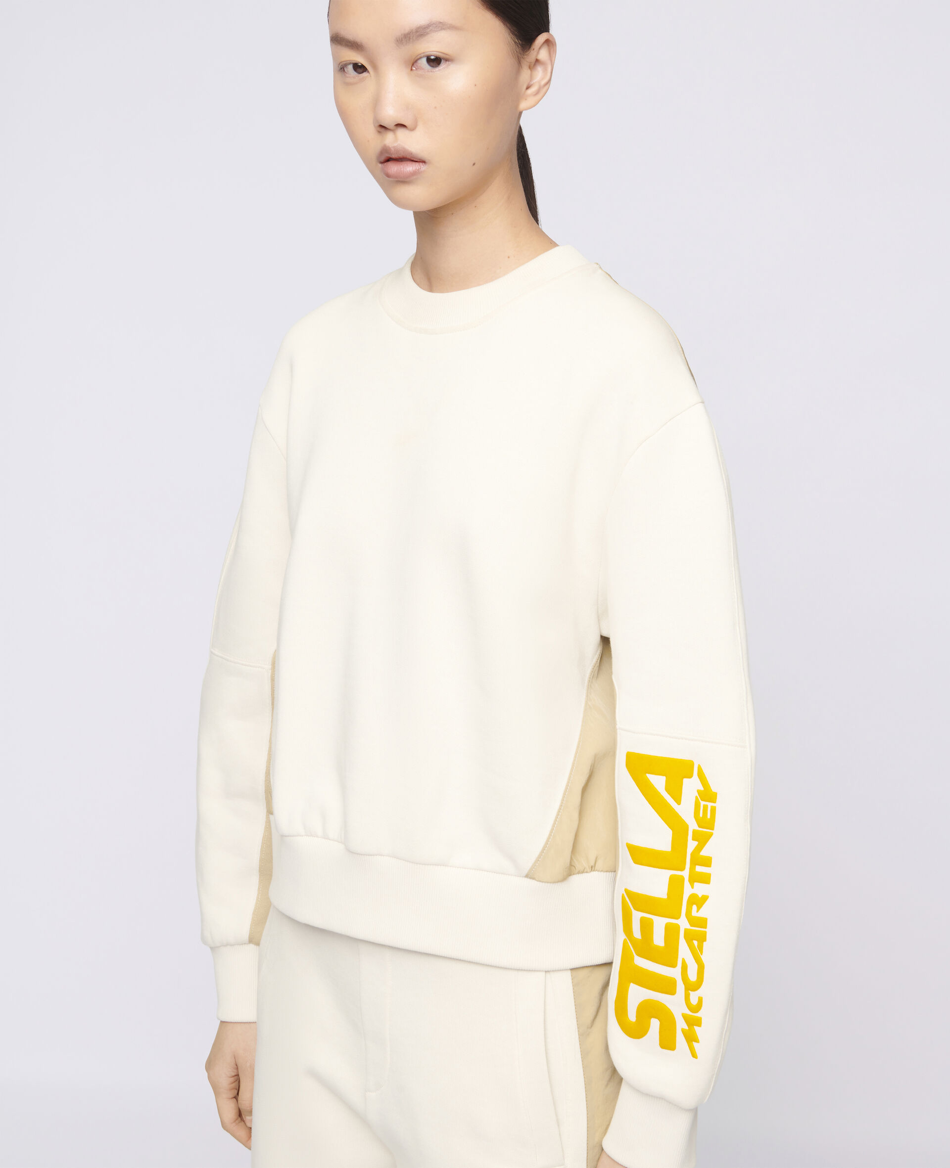 Sweatshirt mit Stella McCartney Logo -Weiß-large image number 3