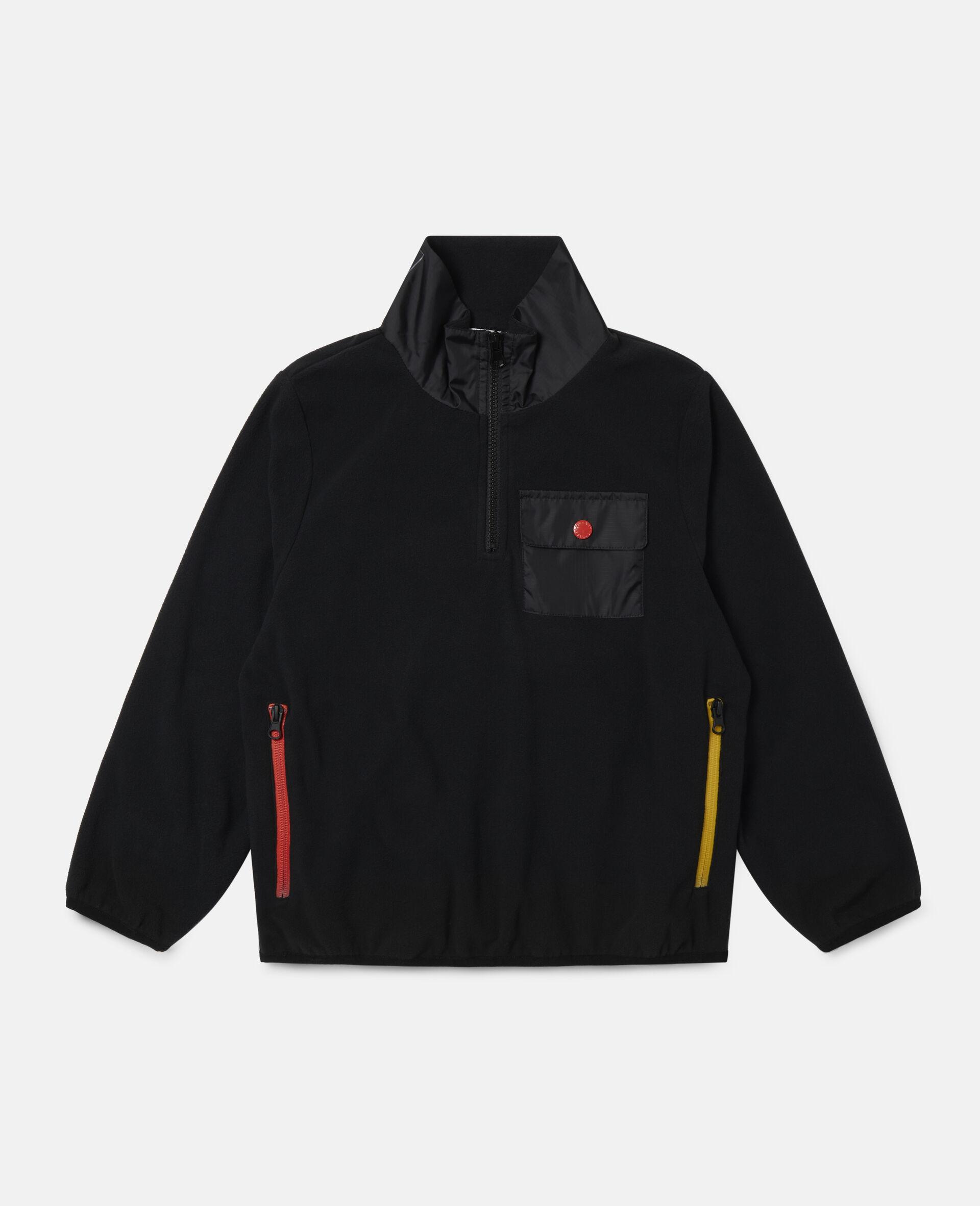 Sweat-shirt en polaire sportif Stella-Noir-large image number 0