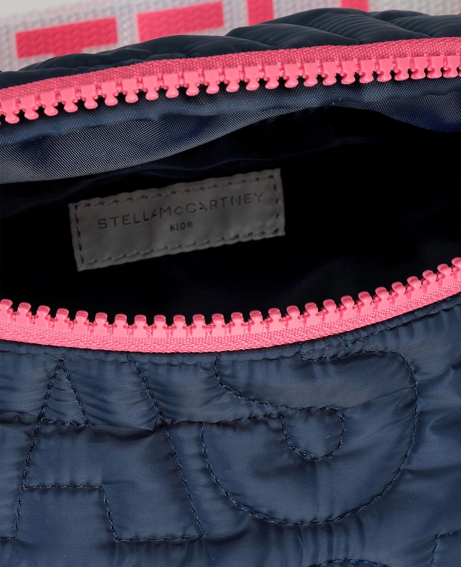 Logo Quilted Belt Bag -Blue-large image number 2