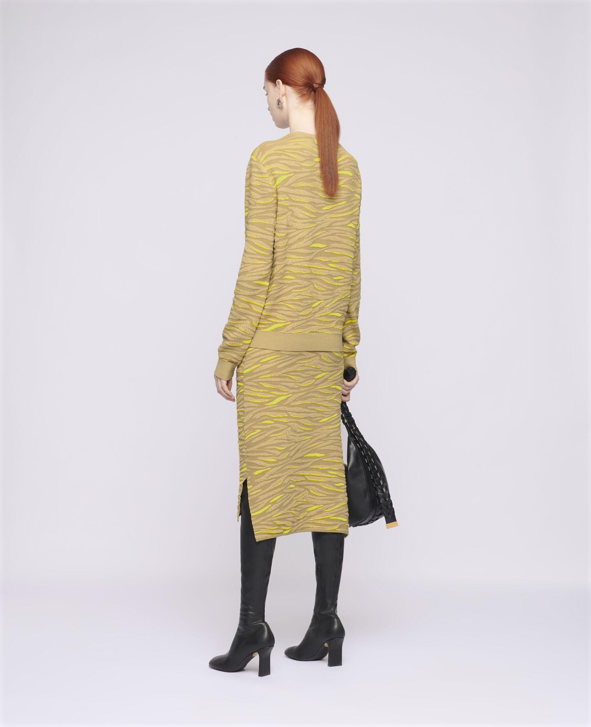 Animal Pattern Skirt-Brown-large image number 2