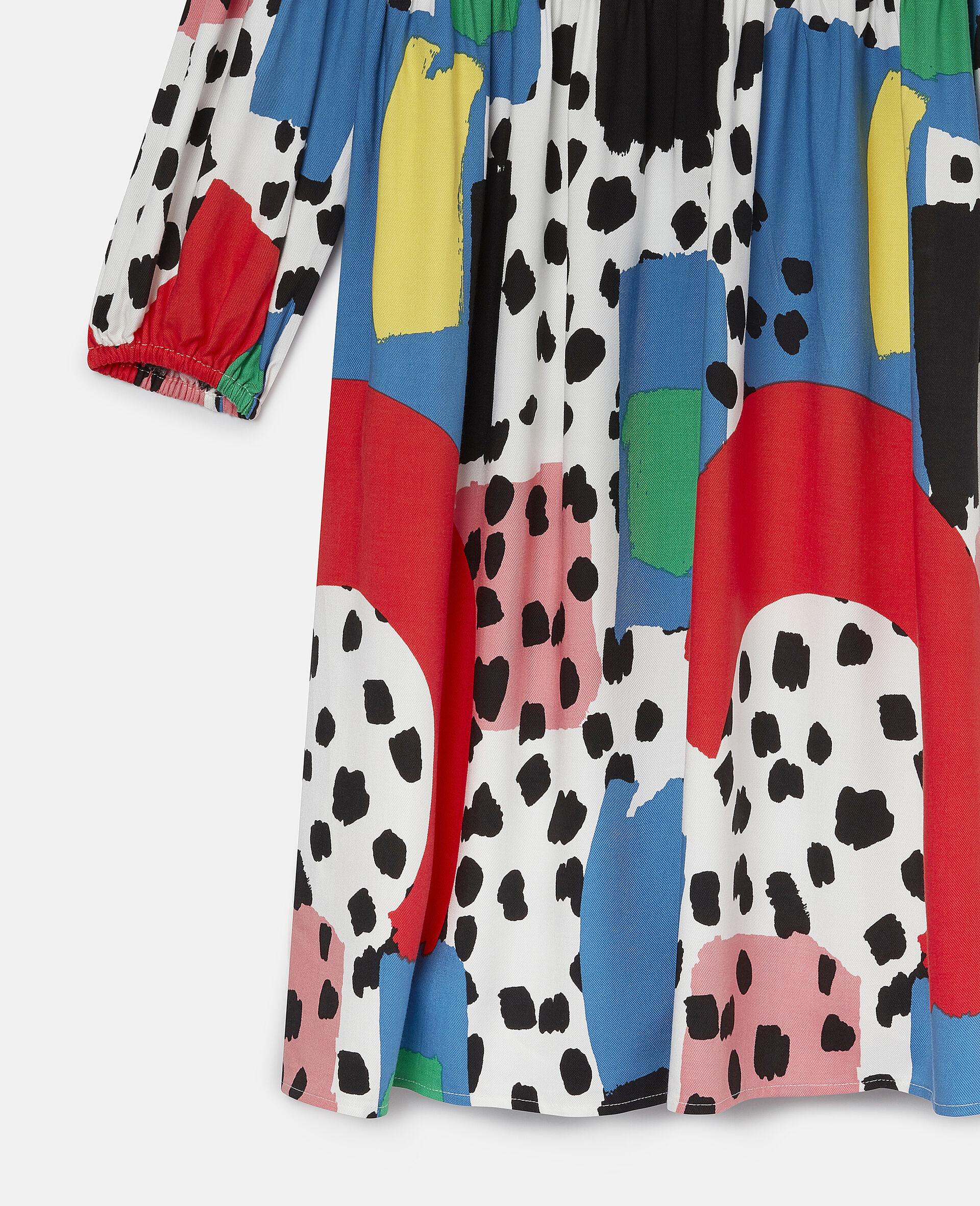 Dalmatian Spots Twill Dress-Multicolour-large image number 1