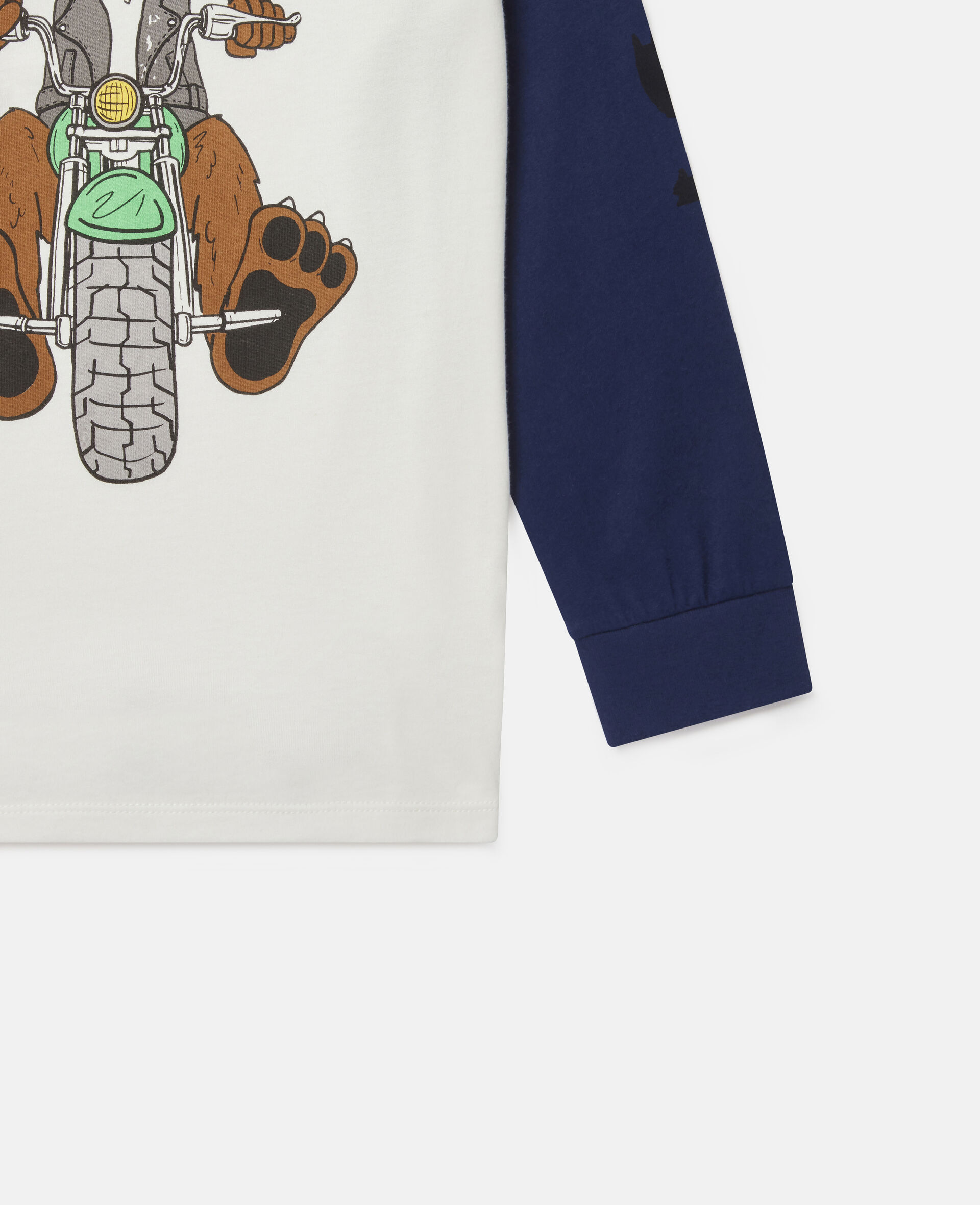 Oversized Doggie Rider Cotton Top-Multicolour-large image number 2