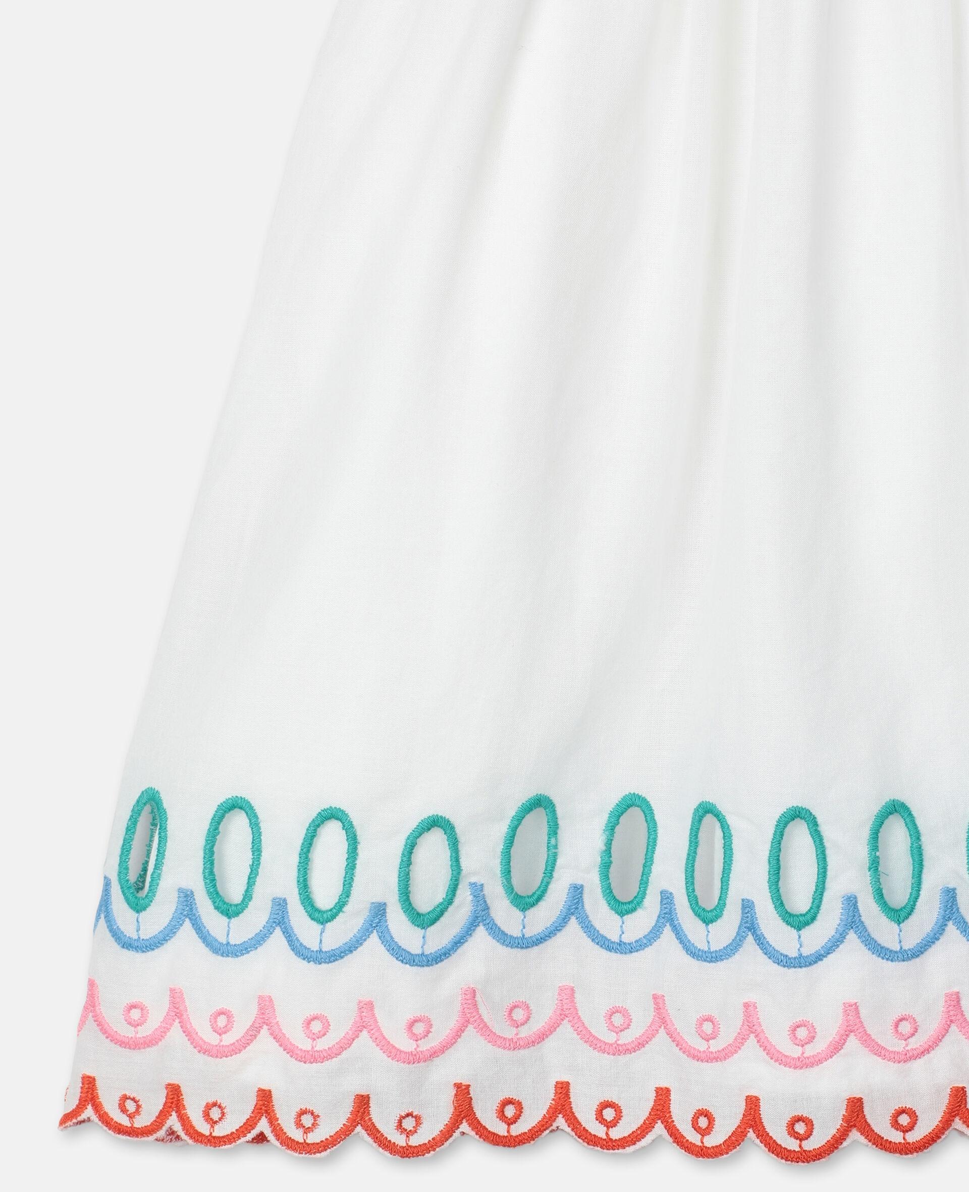 Scalloped Cotton Dress-White-large image number 1