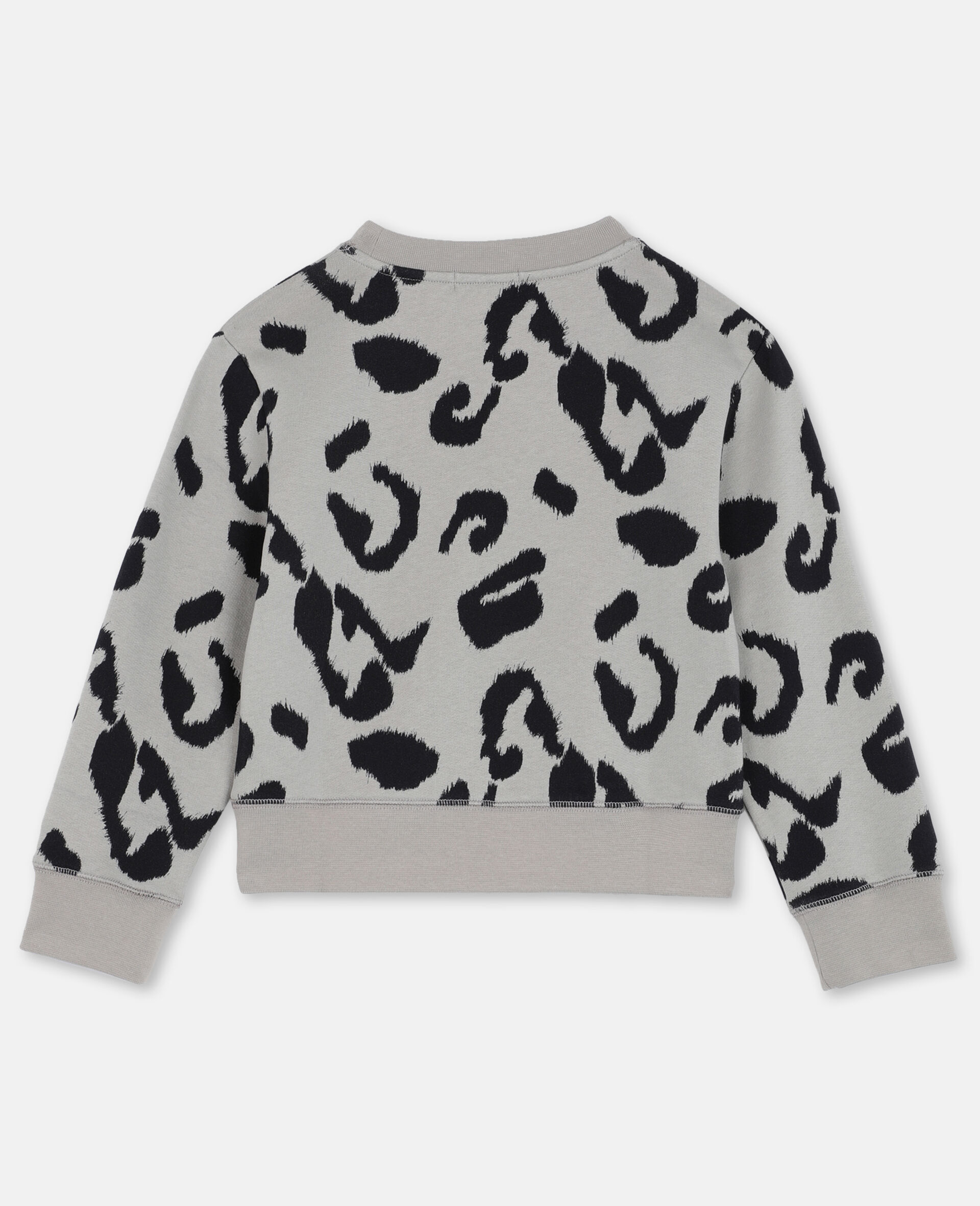 Leopard Cotton Fleece Sweatshirt -Multicolour-large image number 3