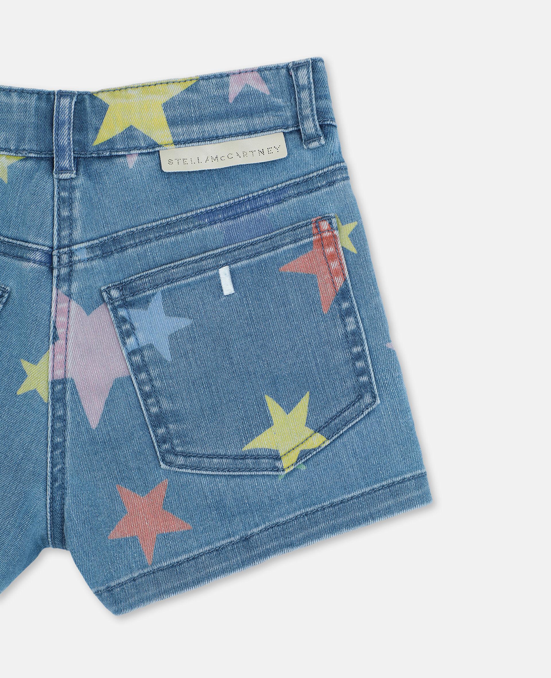 Multicolour Stars Denim Shorts -Multicolour-large image number 2
