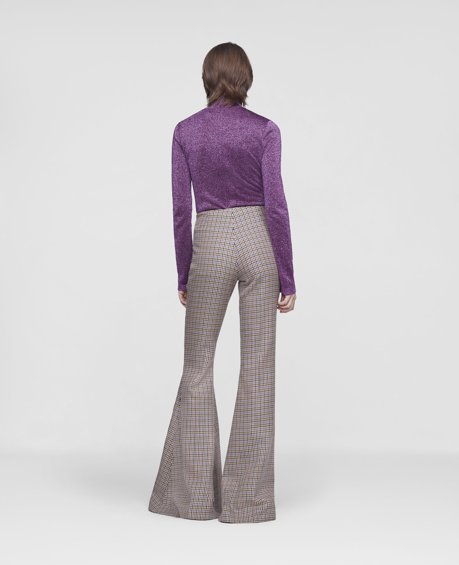 Mona Flared Trousers-Beige-large image number 2