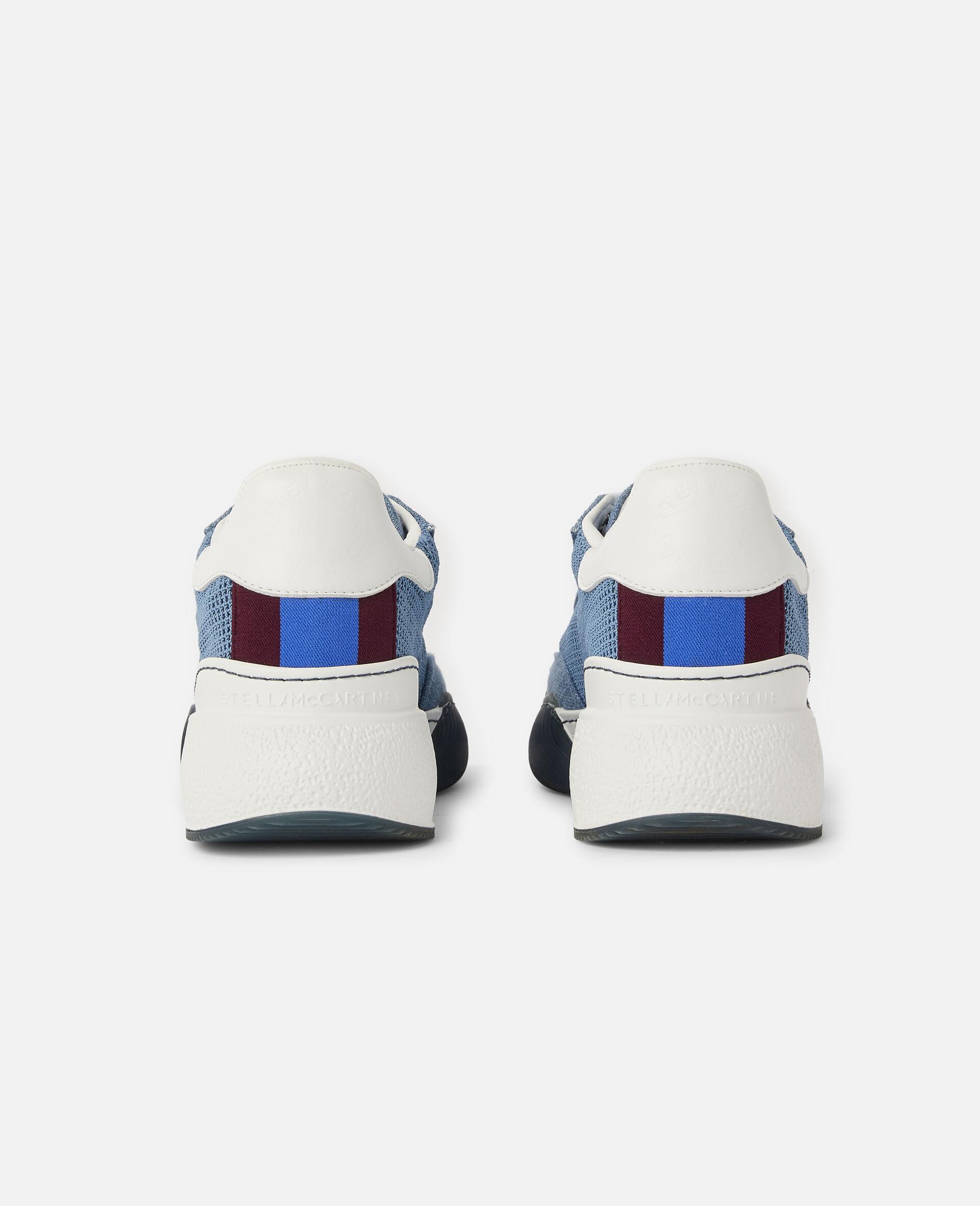 Loop Square Mesh Sneakers -Blue-large image number 2