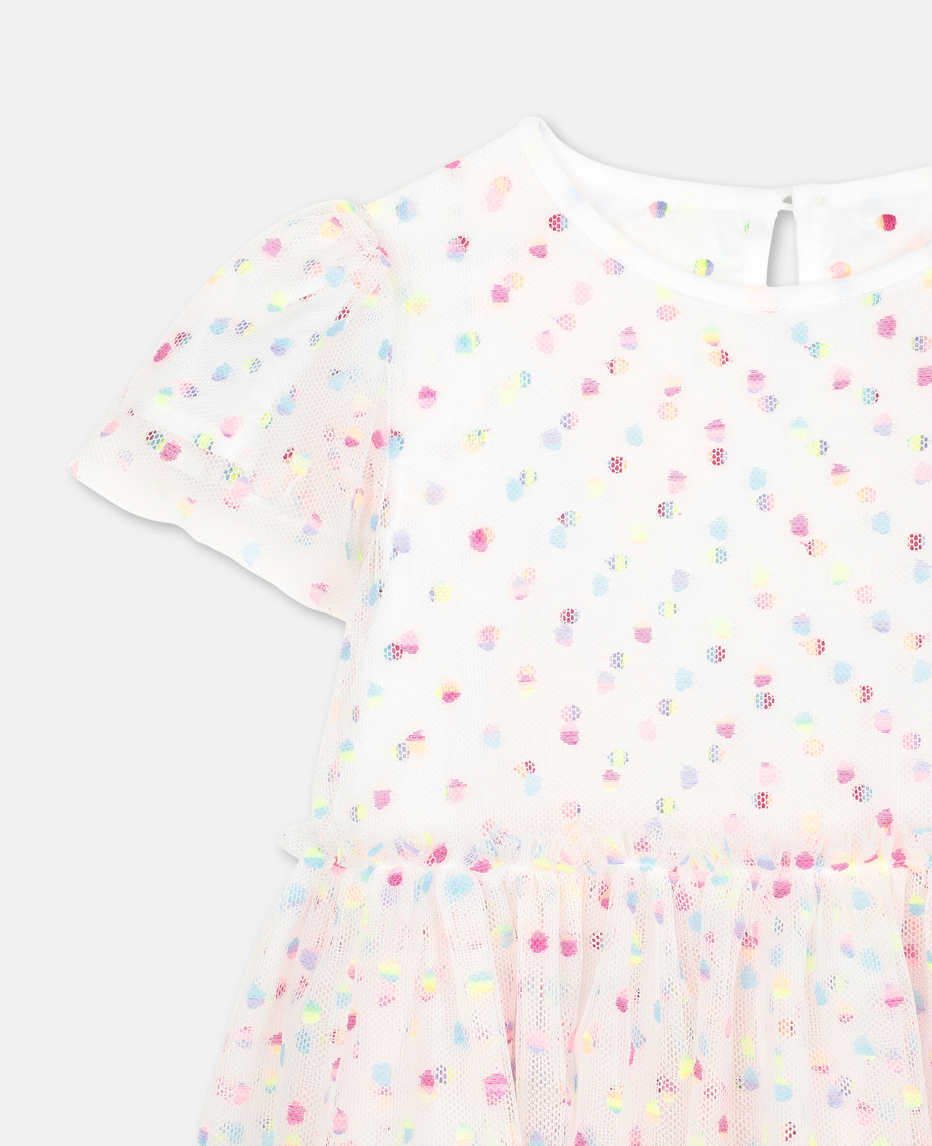 Embroidered Dots Tulle Dress -Multicolour-large image number 1