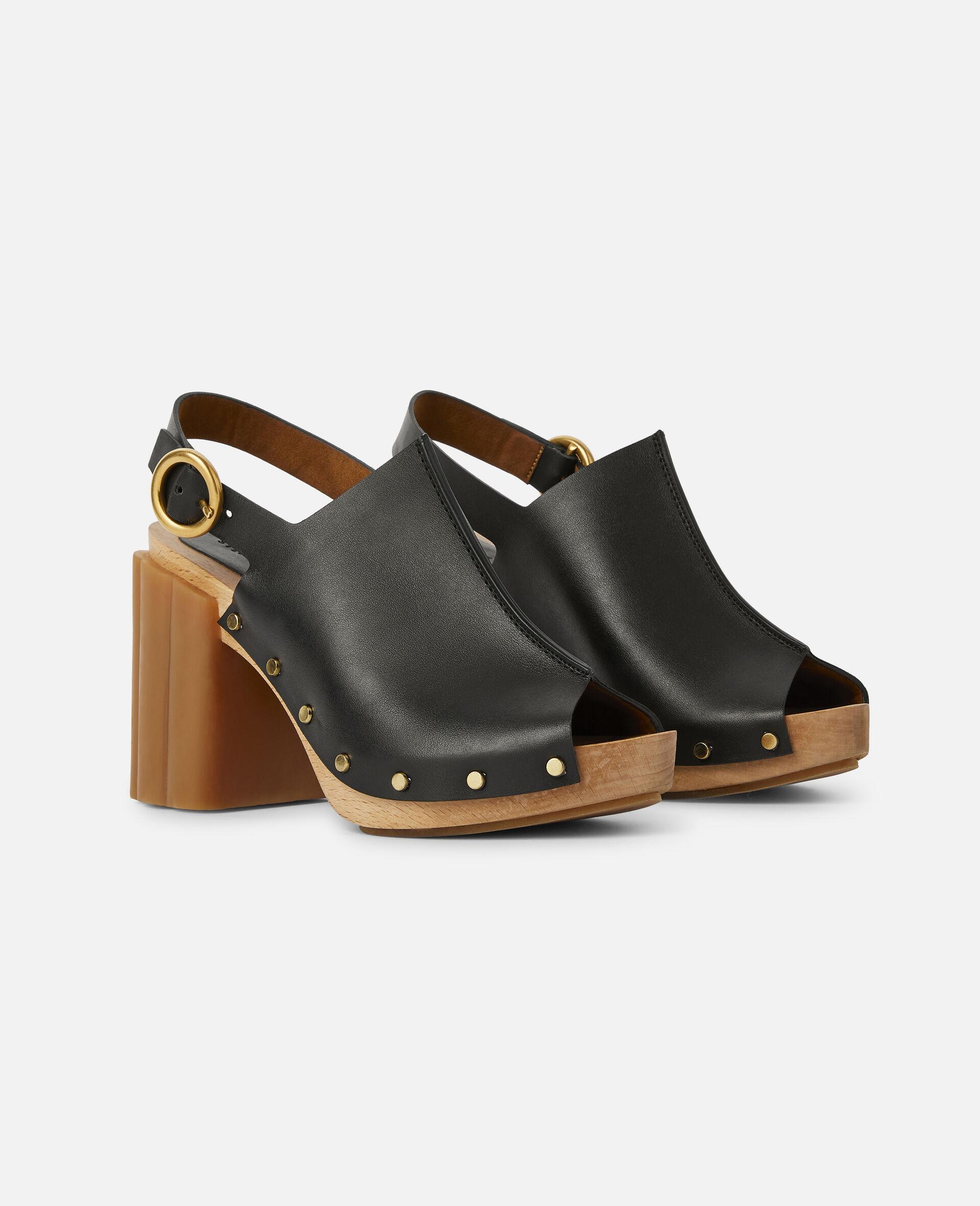 Daisy Stud Hardware Sandals-Black-large image number 1